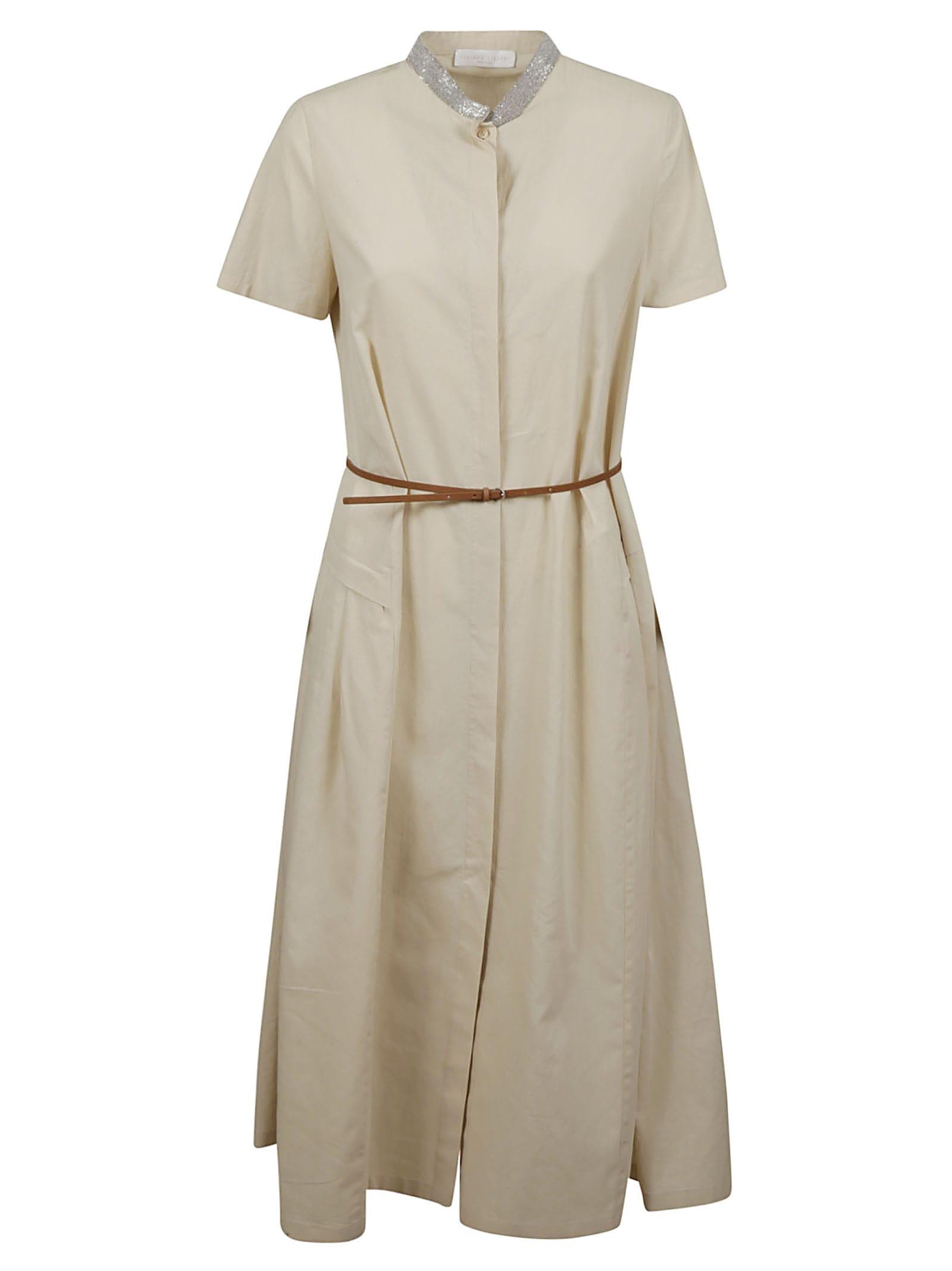 Buy Fabiana Filippi Flared Belted Shirt Dress online, shop Fabiana Filippi with free shipping