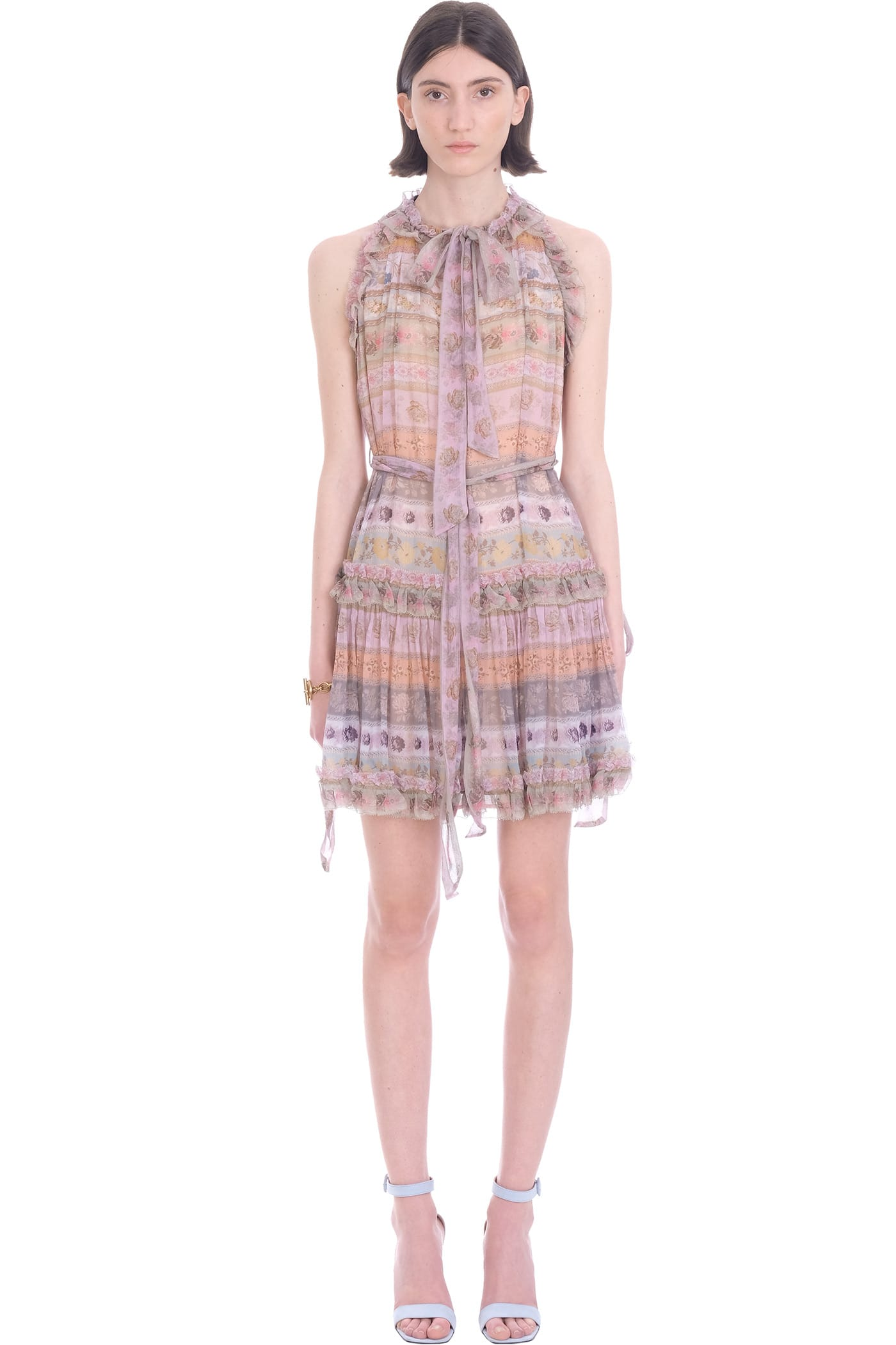 Buy Zimmermann Dress In Multicolor Viscose online, shop Zimmermann with free shipping