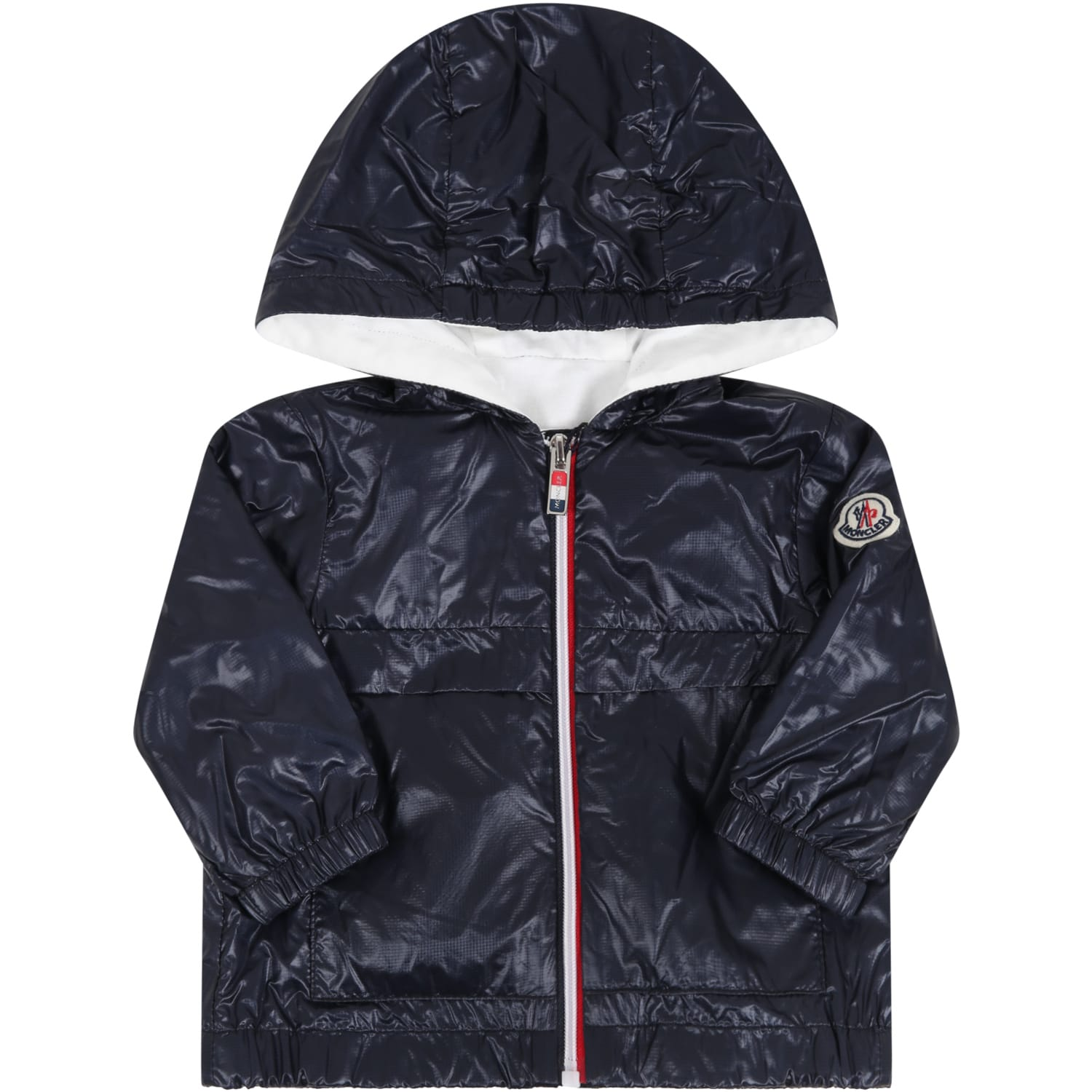 Moncler Blue lavdie Jacket For Kids With Logo