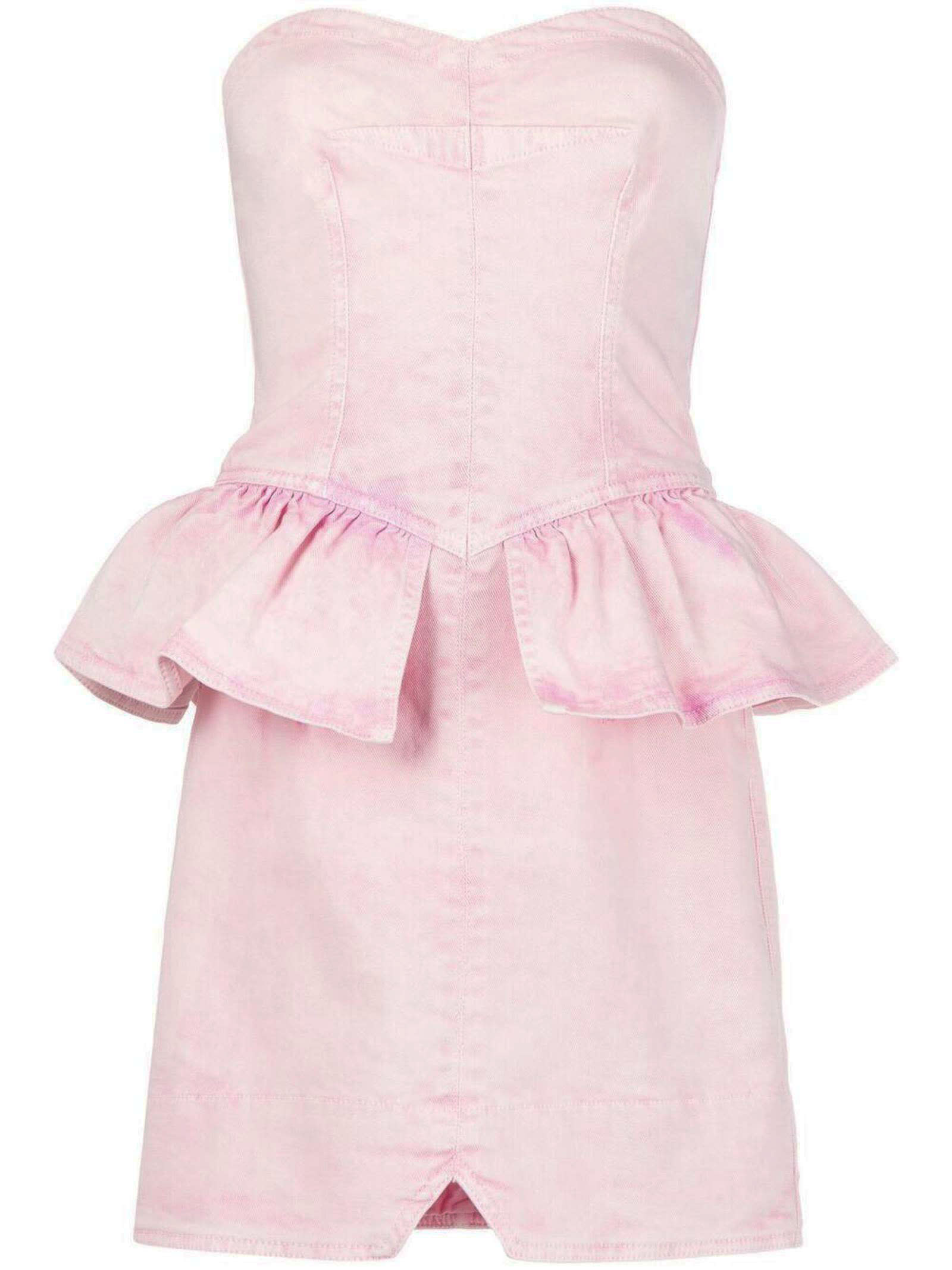Isabel Marant Light Pink Denim Olizi Dress