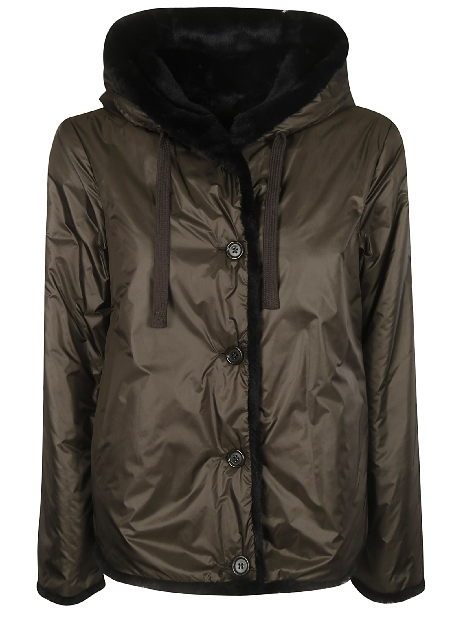 Aspesi Hooded Buttoned Jacket