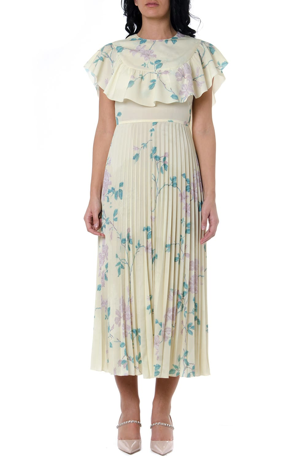 Buy RED Valentino Crepe De Chine Floral Print Dress online, shop RED Valentino with free shipping