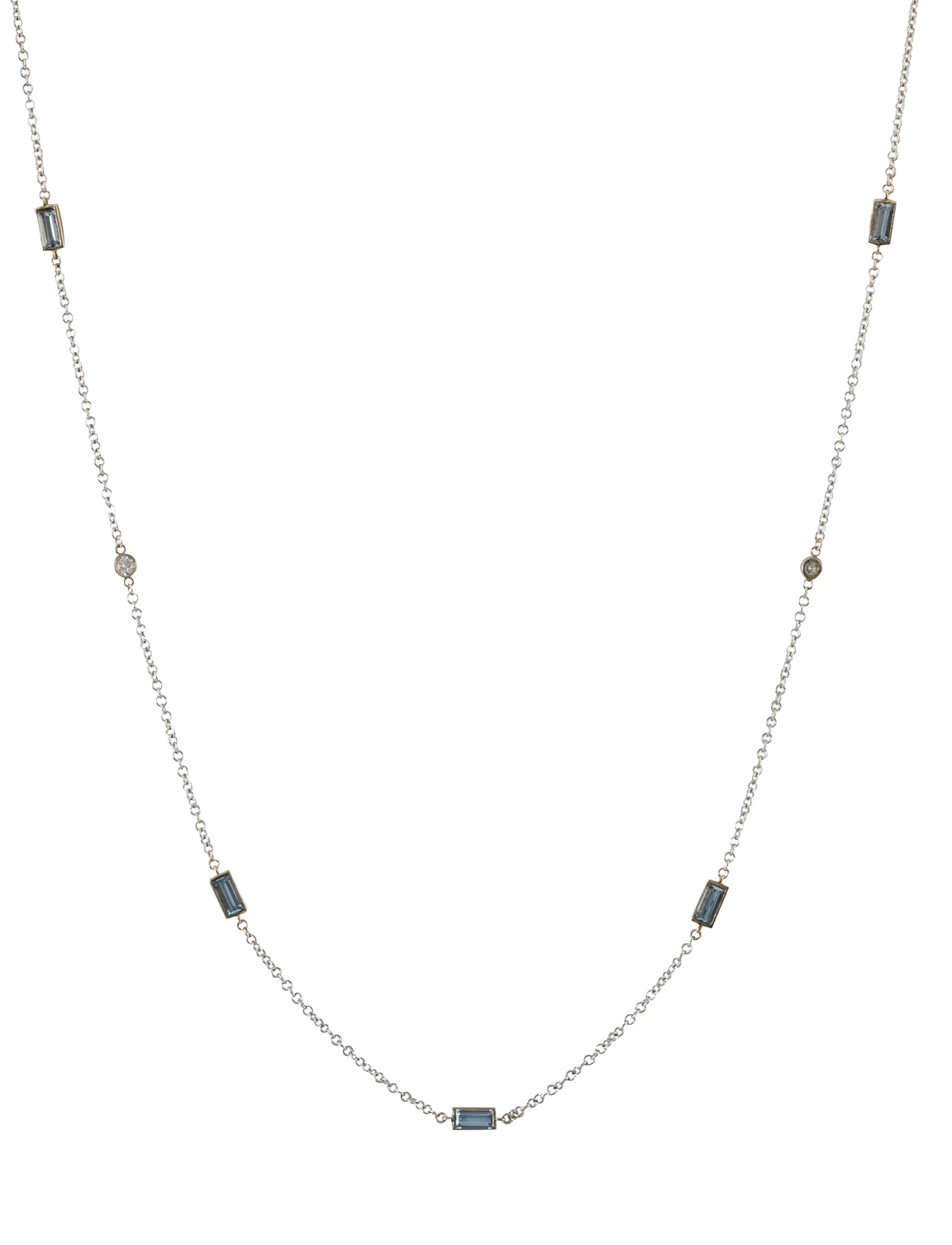 Lo Spazio Aquamarine and Diamond Necklace