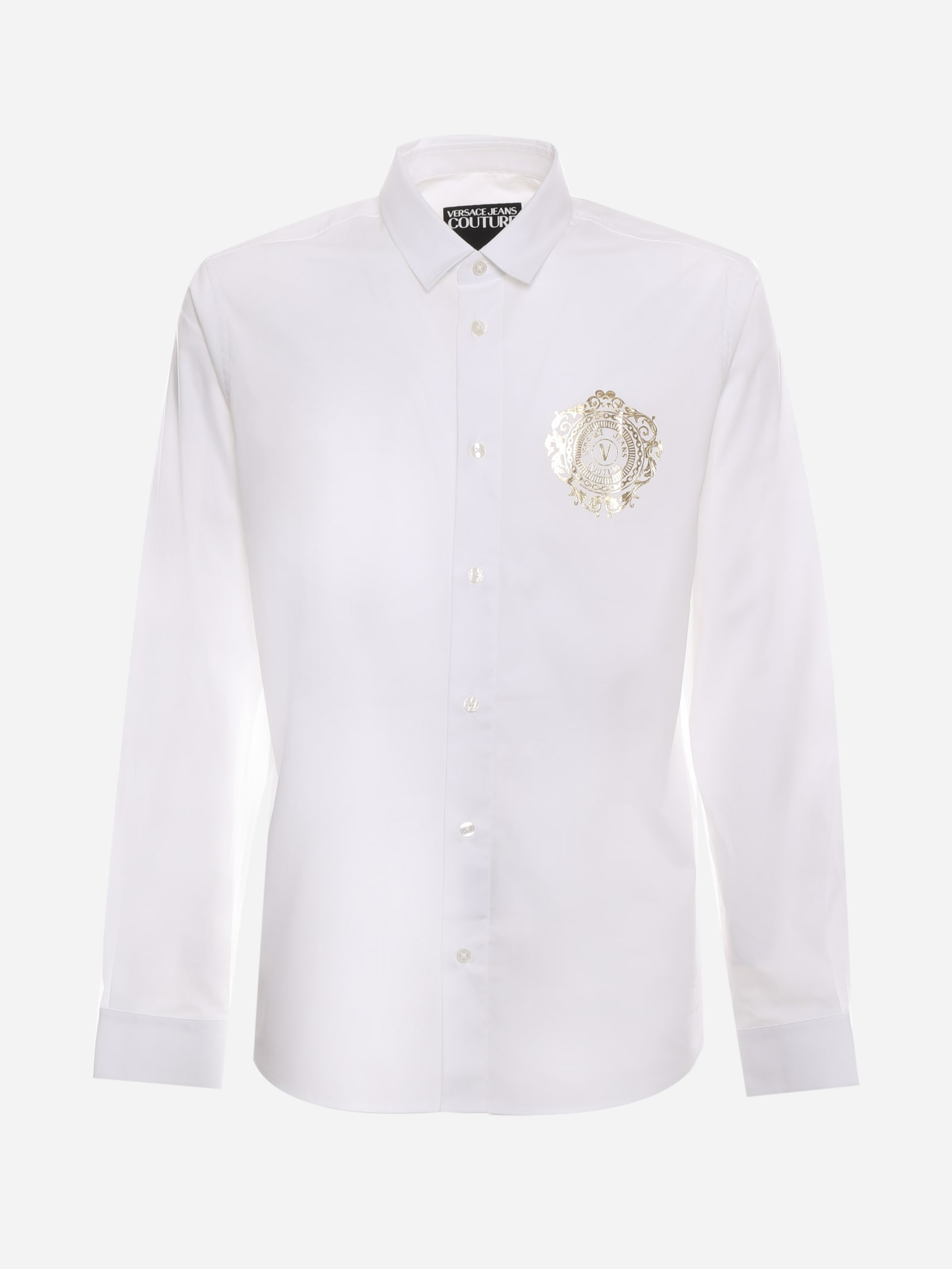 Versace Jeans Couture COTTON SHIRT WITH CONTRASTING LOGO