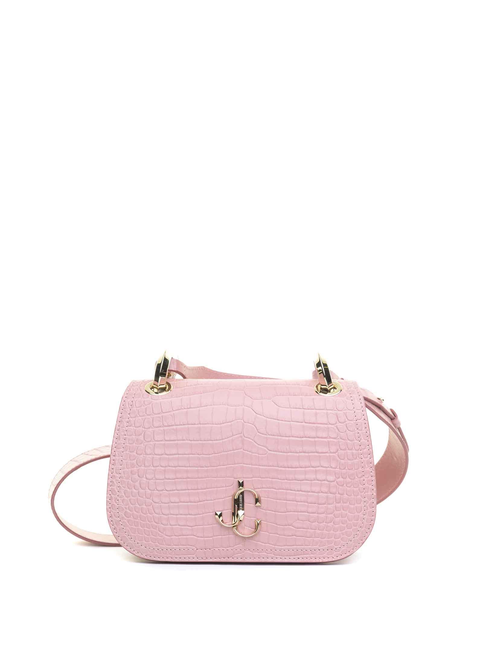 Jimmy Choo Varenne Crossbody Bag In Blush