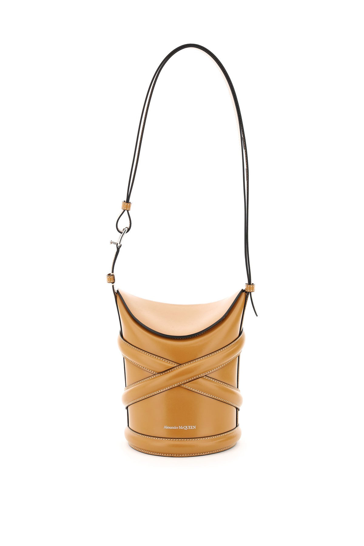 Alexander Mcqueen THE SMALL CURVE BUCKET BAG