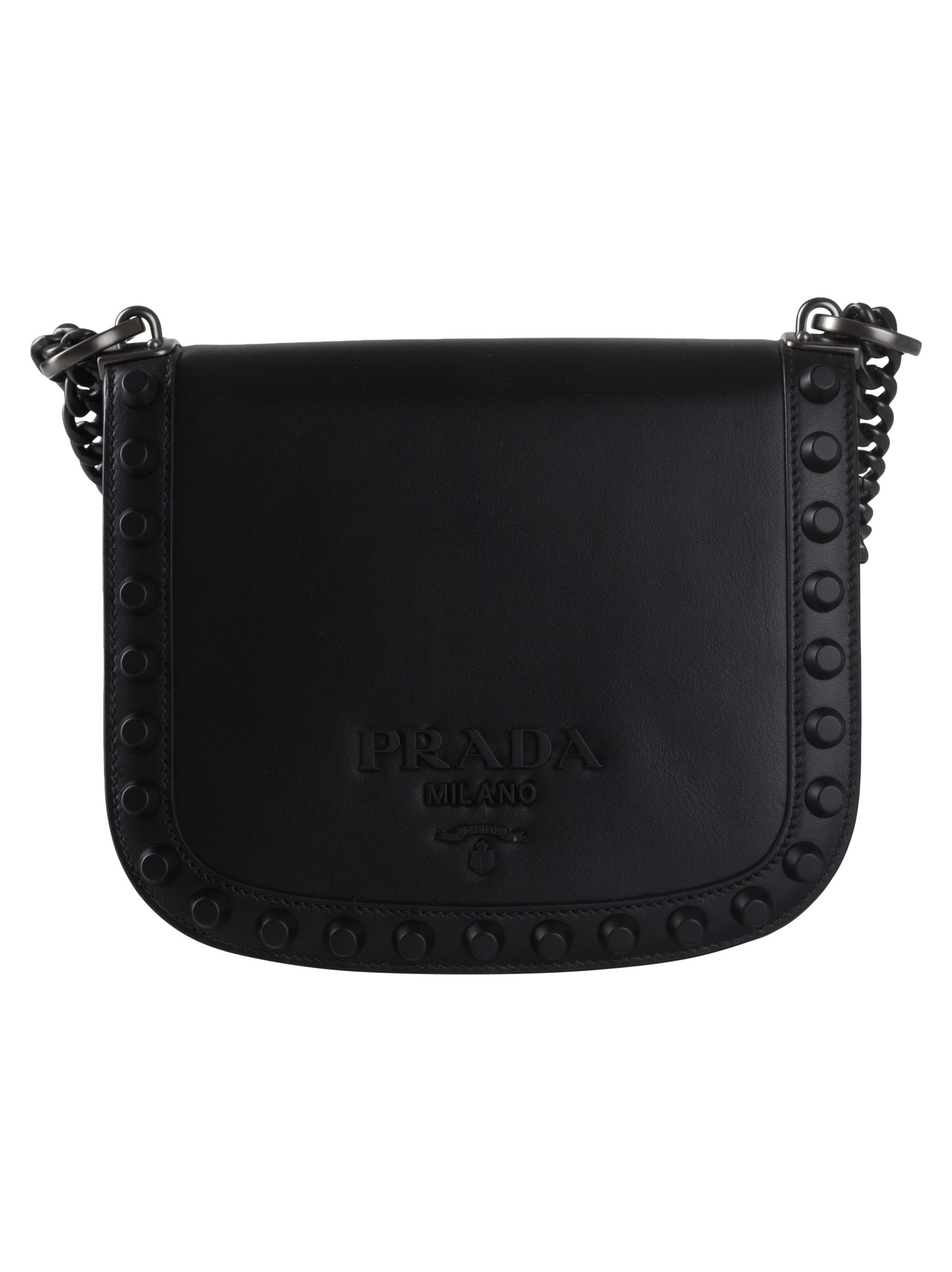 0082d52a5 Prada Prada Studded Shoulder Bag - 10707816 | italist