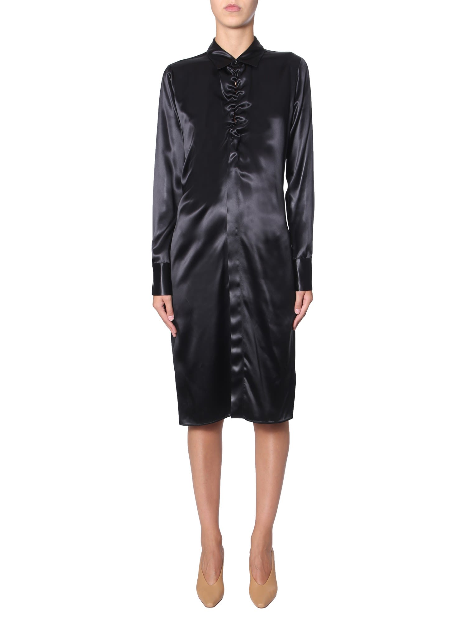 Buy Bottega Veneta Long Sleeve Dress online, shop Bottega Veneta with free shipping