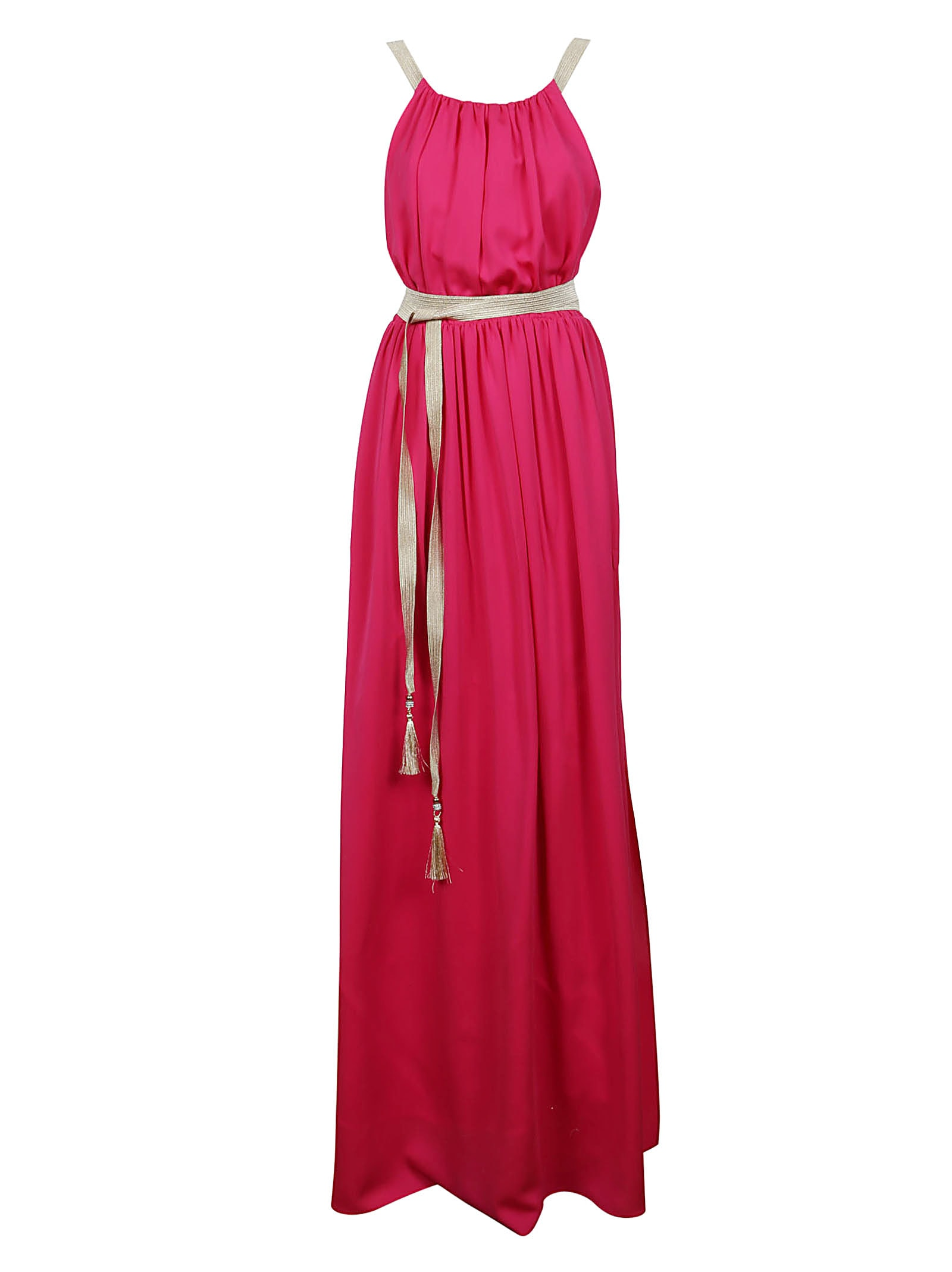Fuchsia Silk Dress
