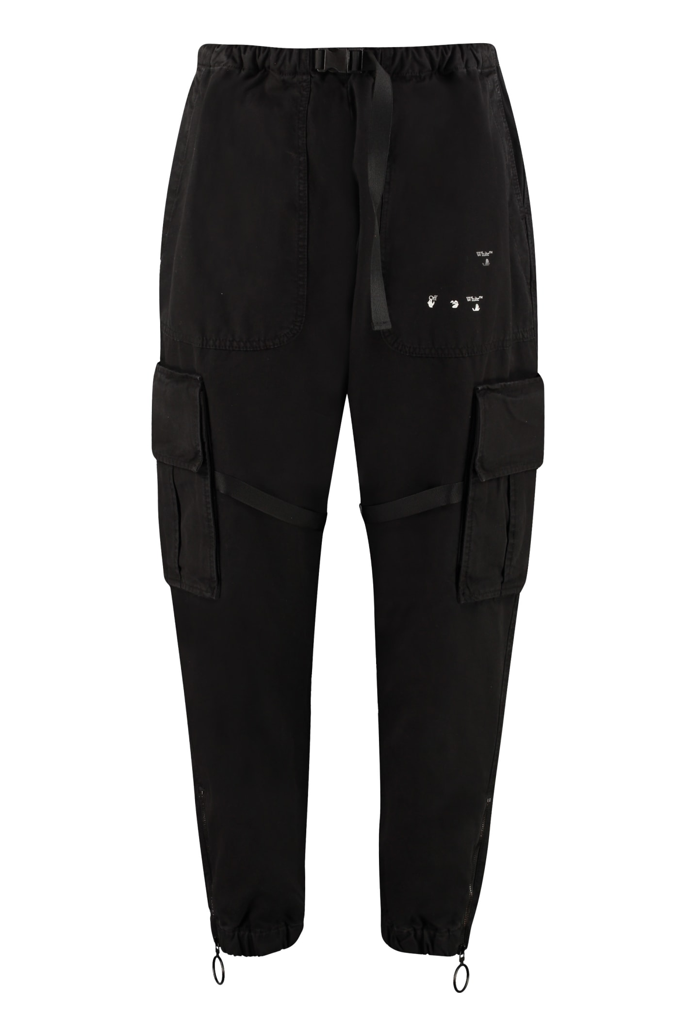 Off-White Cottons COTTON CARGO-TROUSERS