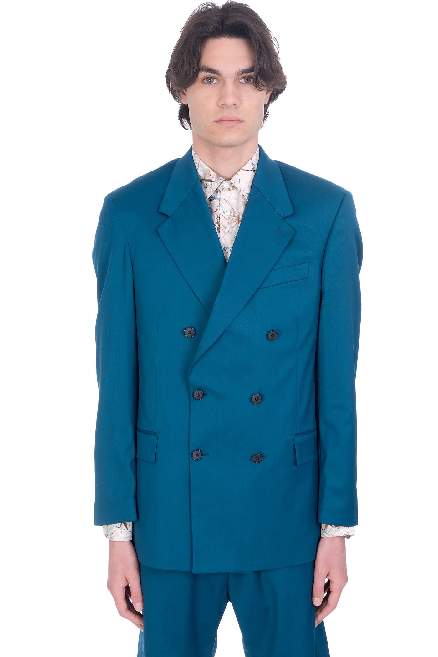 Danilo Paura Thom Jacket In Petroleum Wool