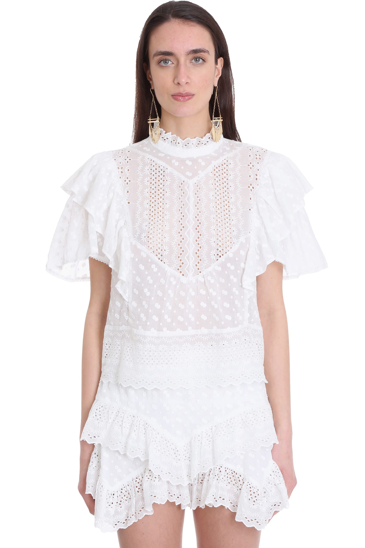 Isabel Marant Blouse In White Cotton