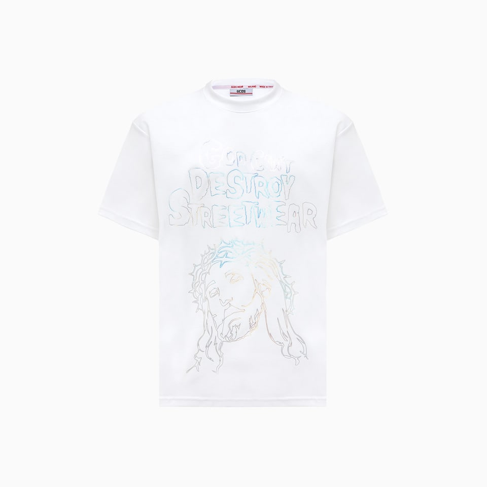 Gcds Jesus T-shirt Cc94m021016
