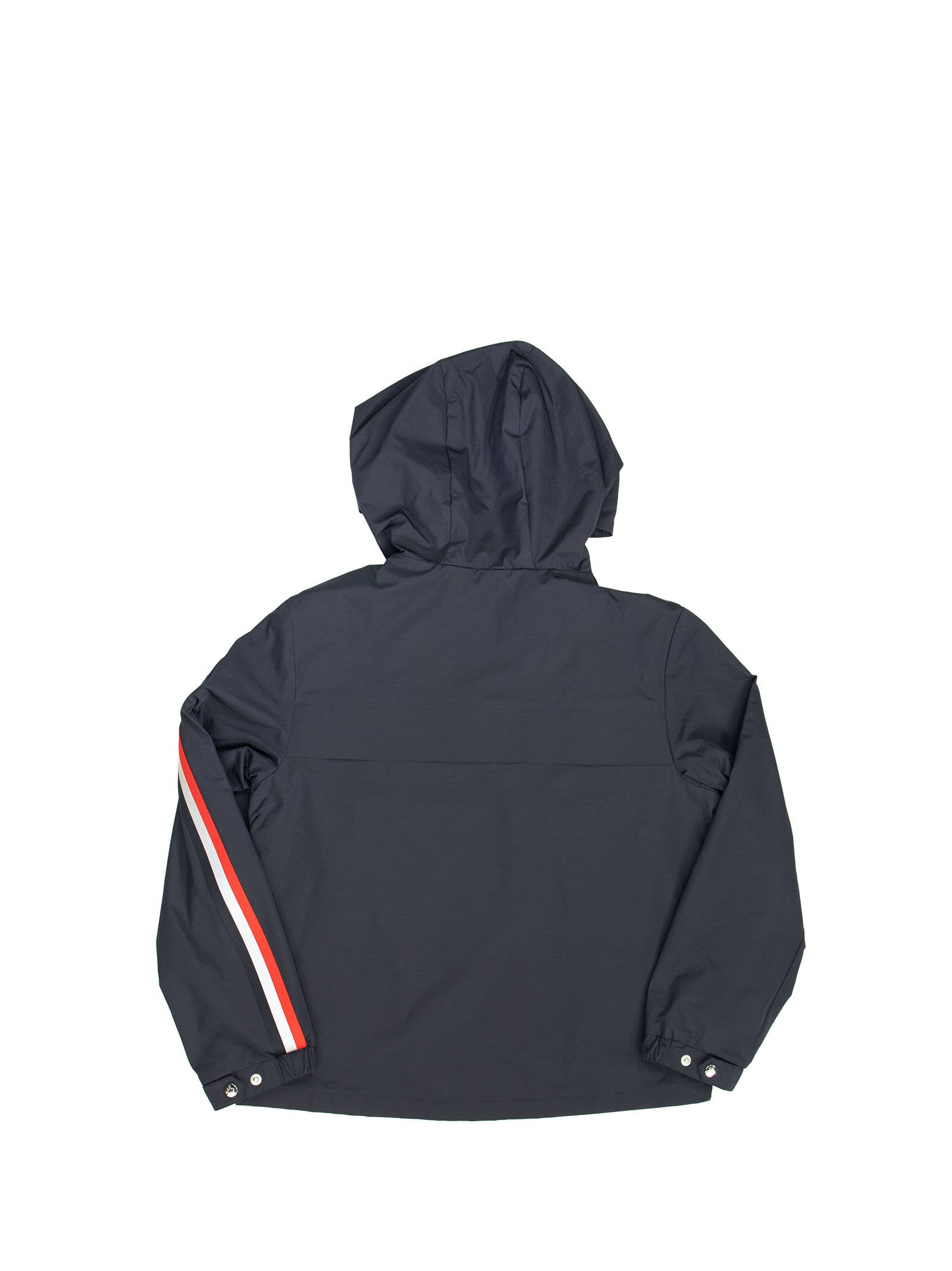 MONCLER HOODED JACKET VAUG BLUE