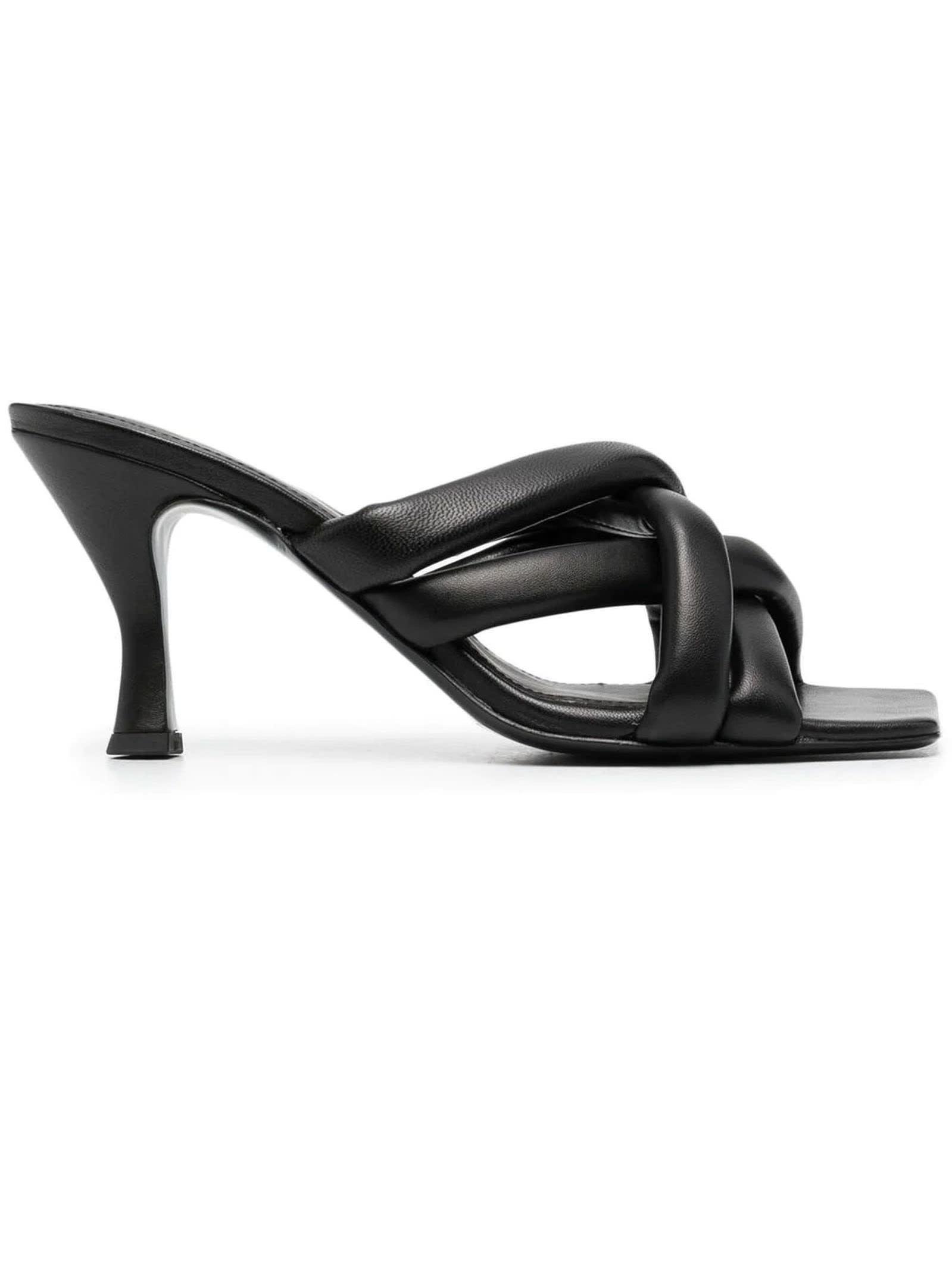 Ash Slides BLACK LEATHER MINA SANDALS