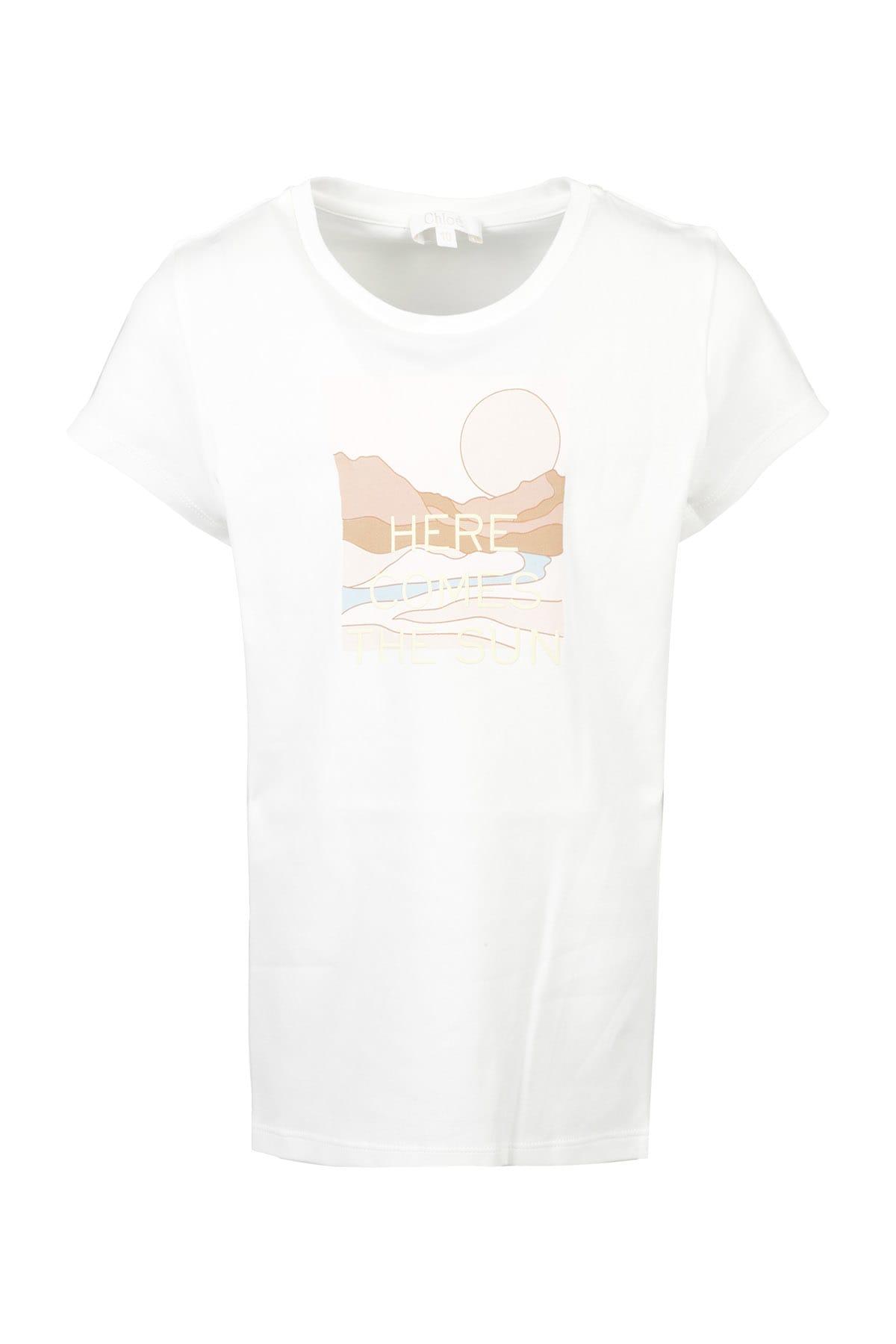 Chloé Kids' T-shirt In Bianco Sporco