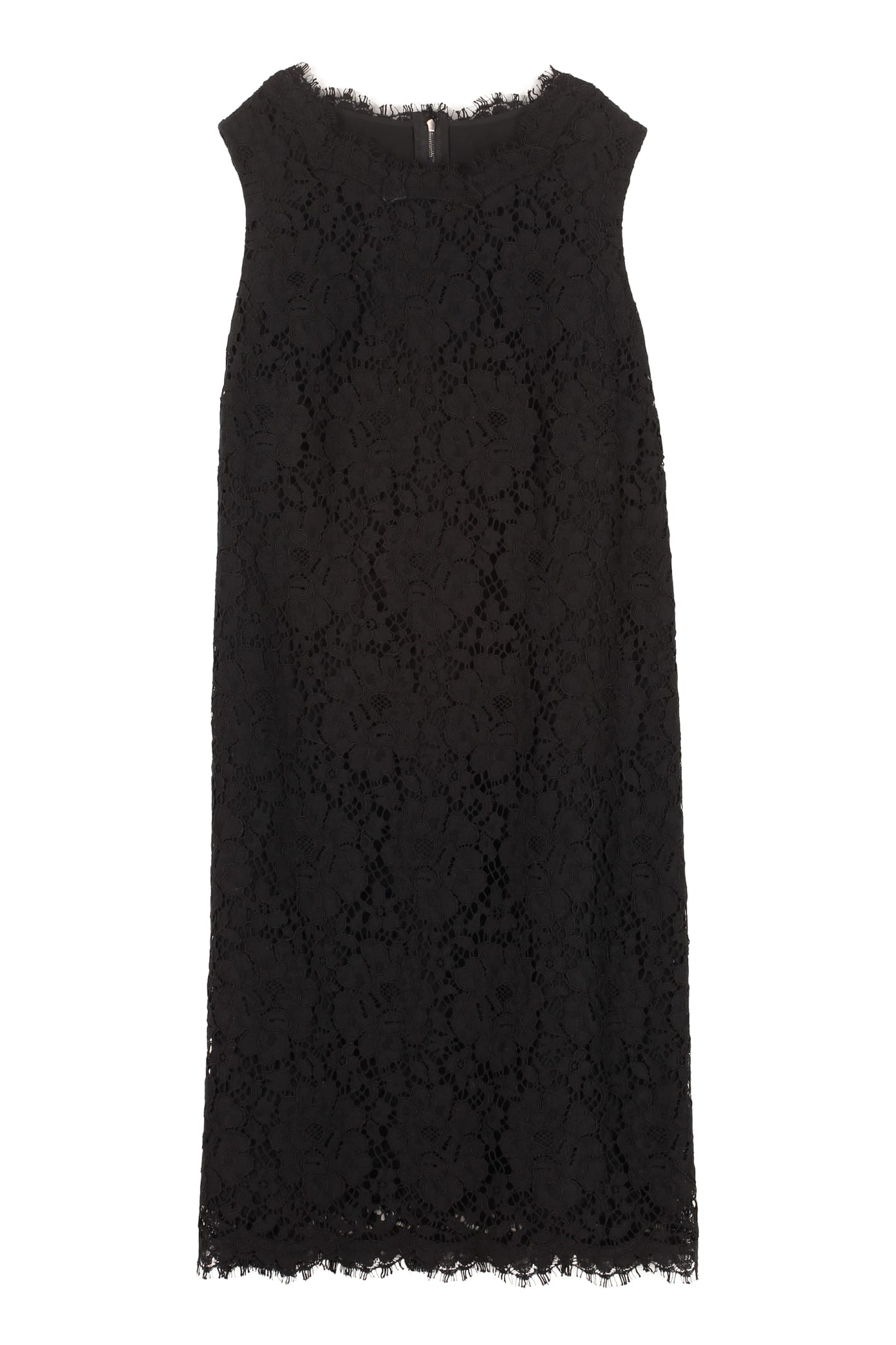Dolce & Gabbana Floral Pattern Lace Dress