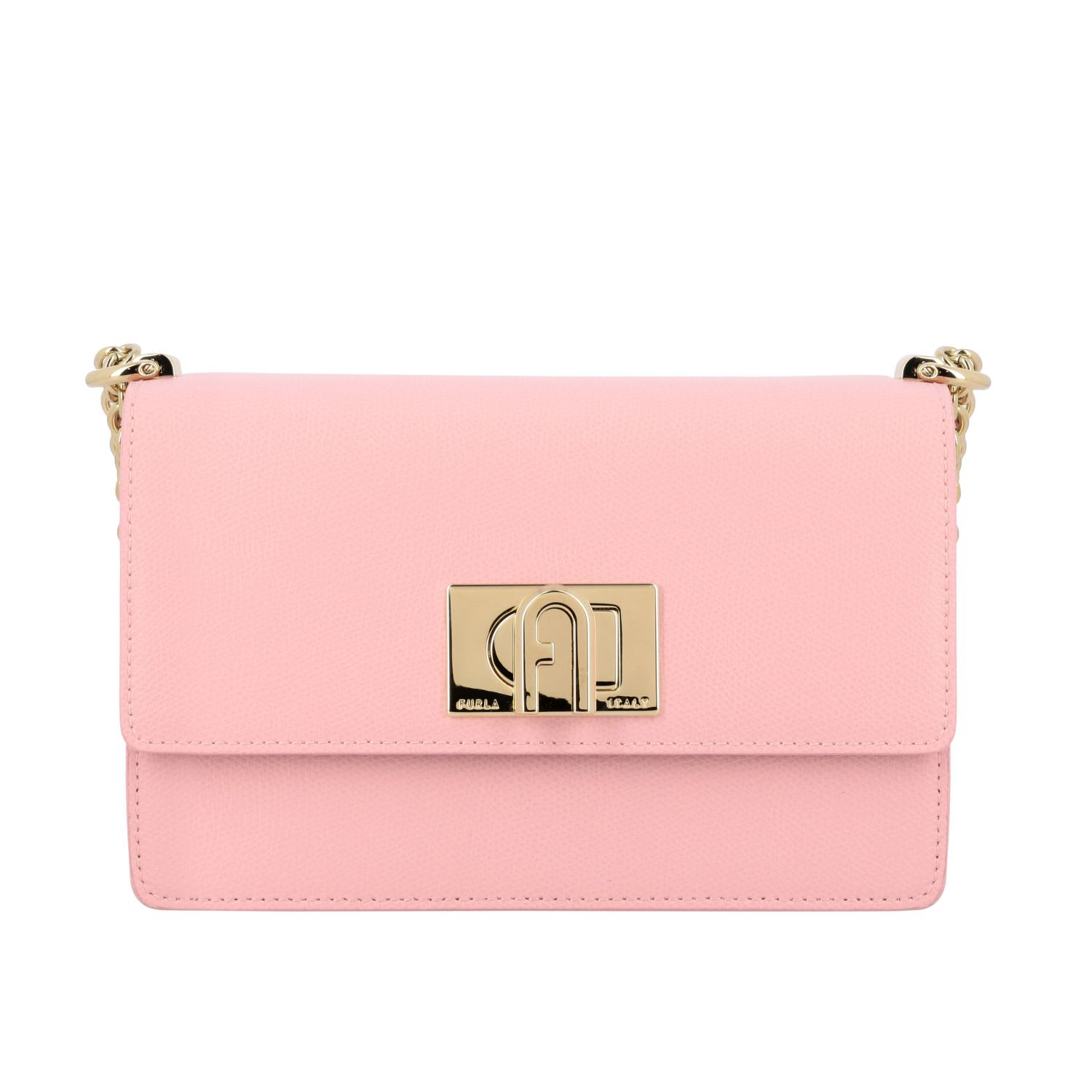 Furla Leather Bag In Baby Pink
