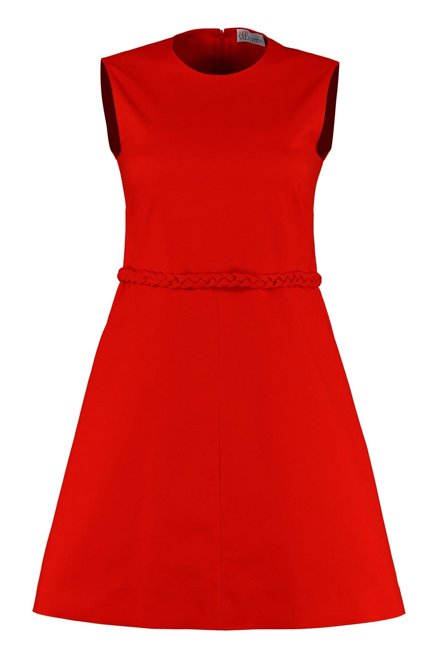 RED Valentino Stretch Cotton Mini-dress