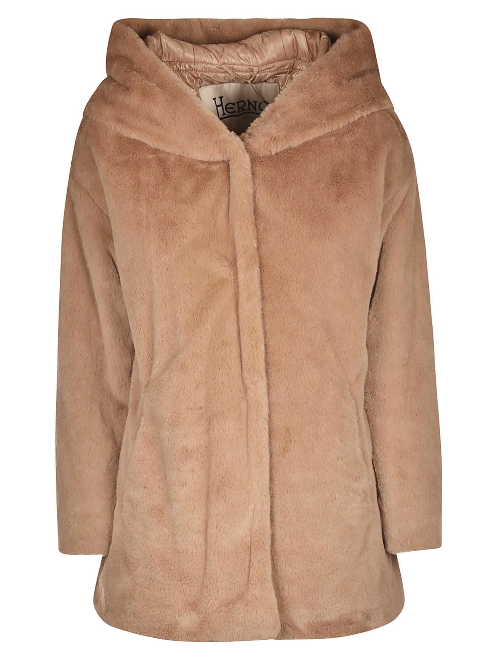 Herno Hooded Fur Jacket