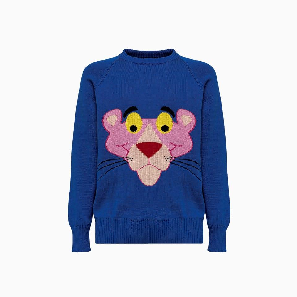 Lc 23 Jacquard Panther Sweater M-401