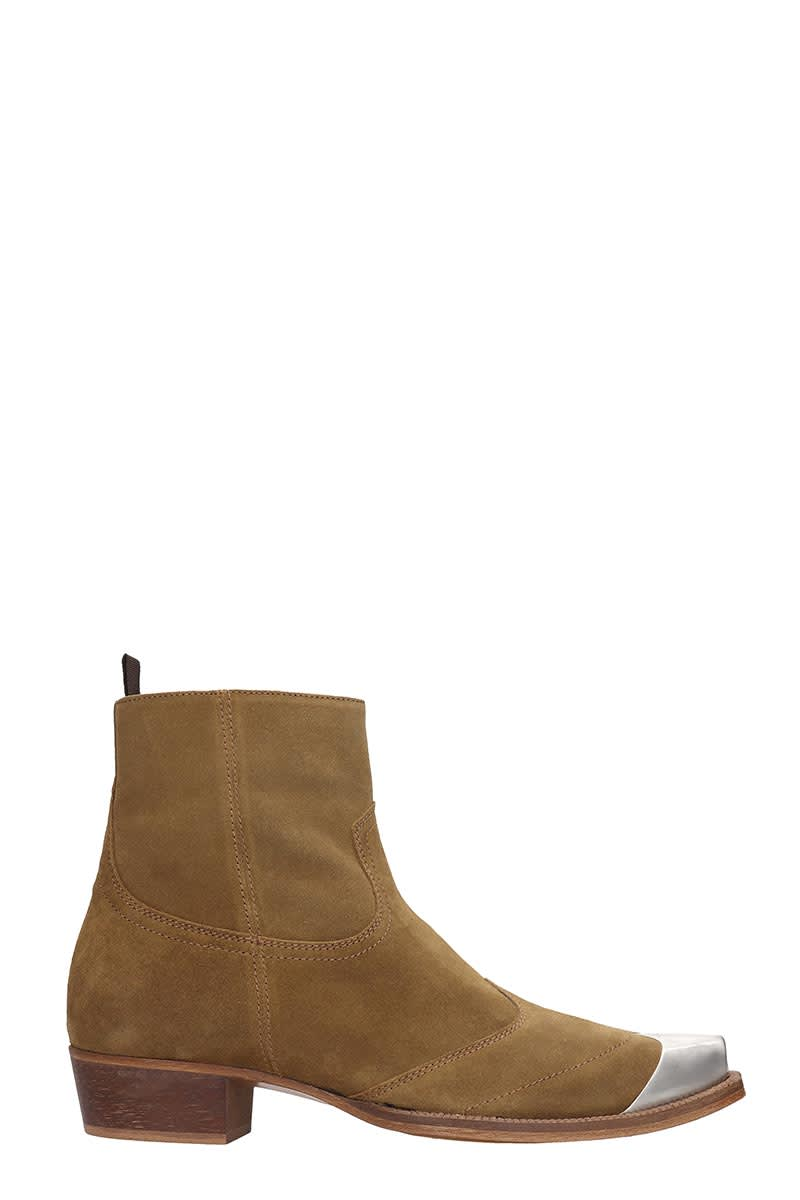 REPRESENT Western Boot High Heels Ankle Boots In Leather Color Suede