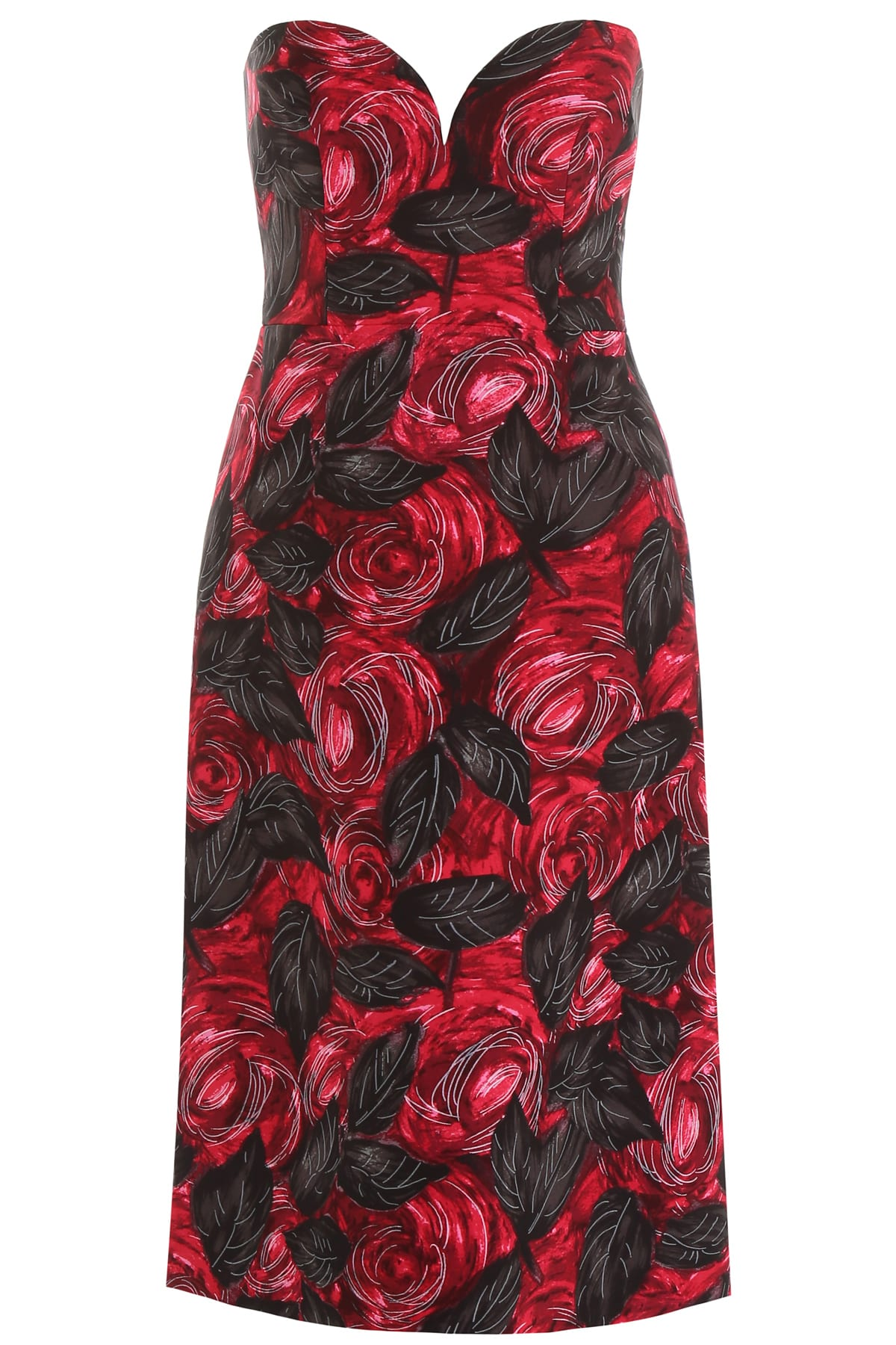 Prada Rose Print Dress