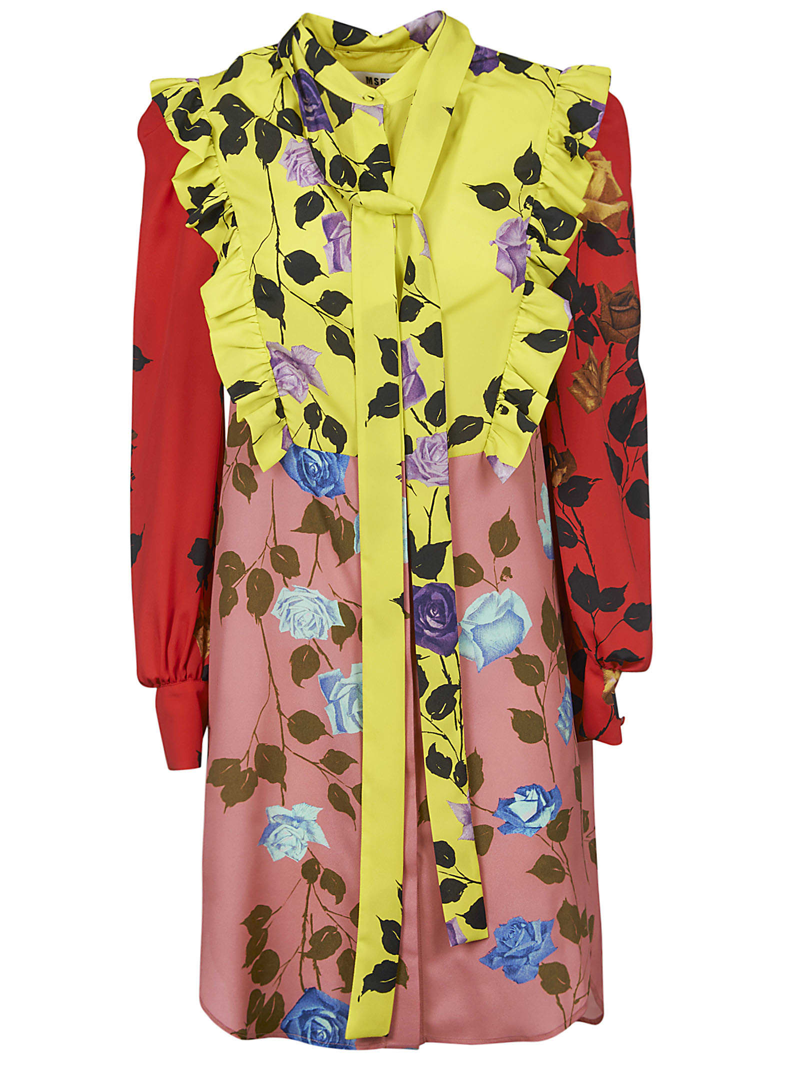 Buy MSGM Floral Ruffled Dress online, shop MSGM with free shipping
