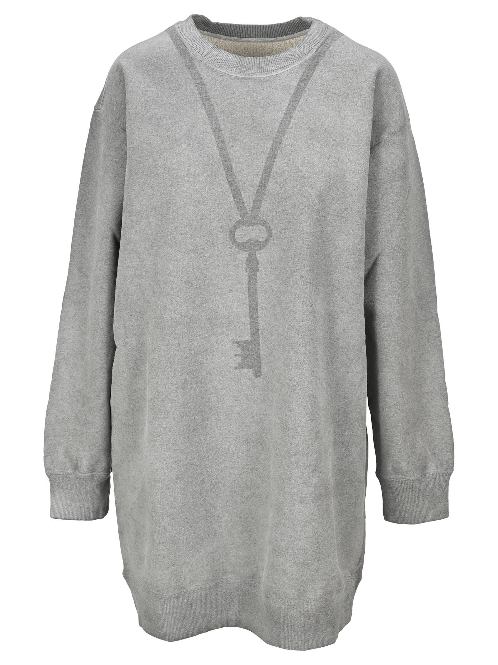 Mm6 Key Print Oversize Sweatshirt