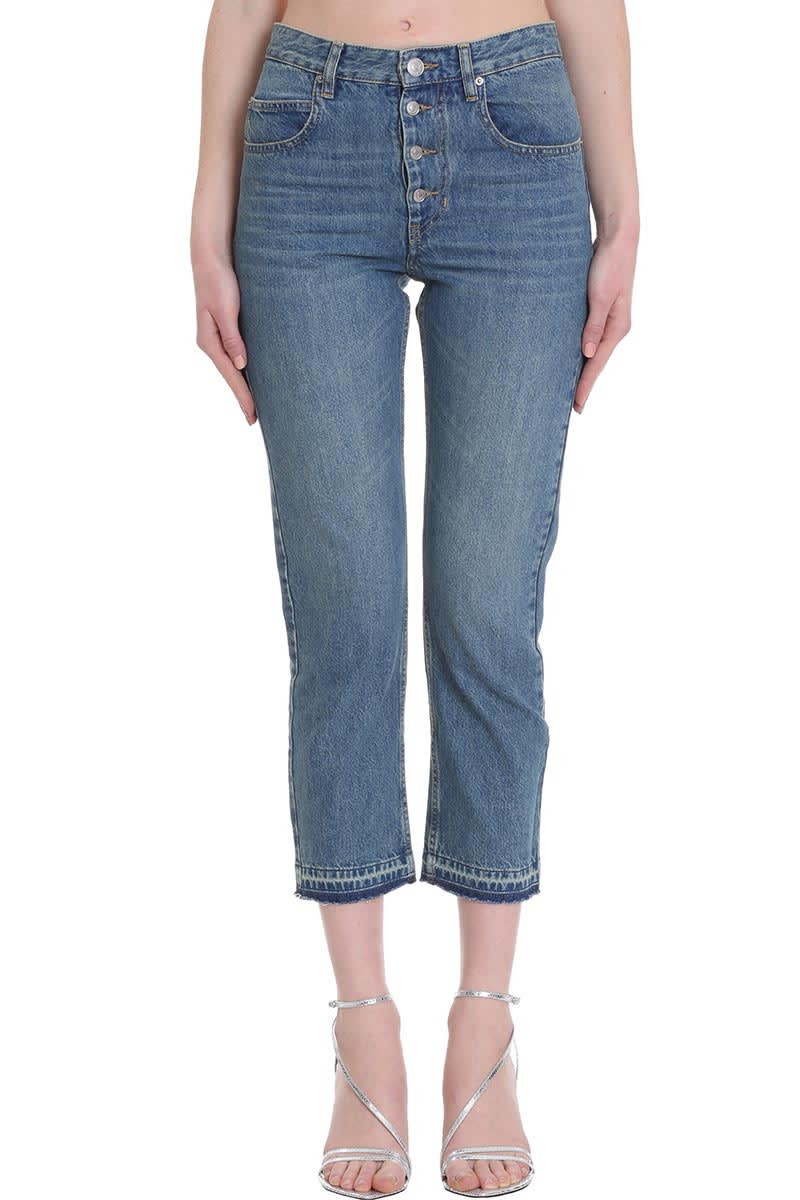 Isabel Marant Étoile Garance Jeans In Blue Denim