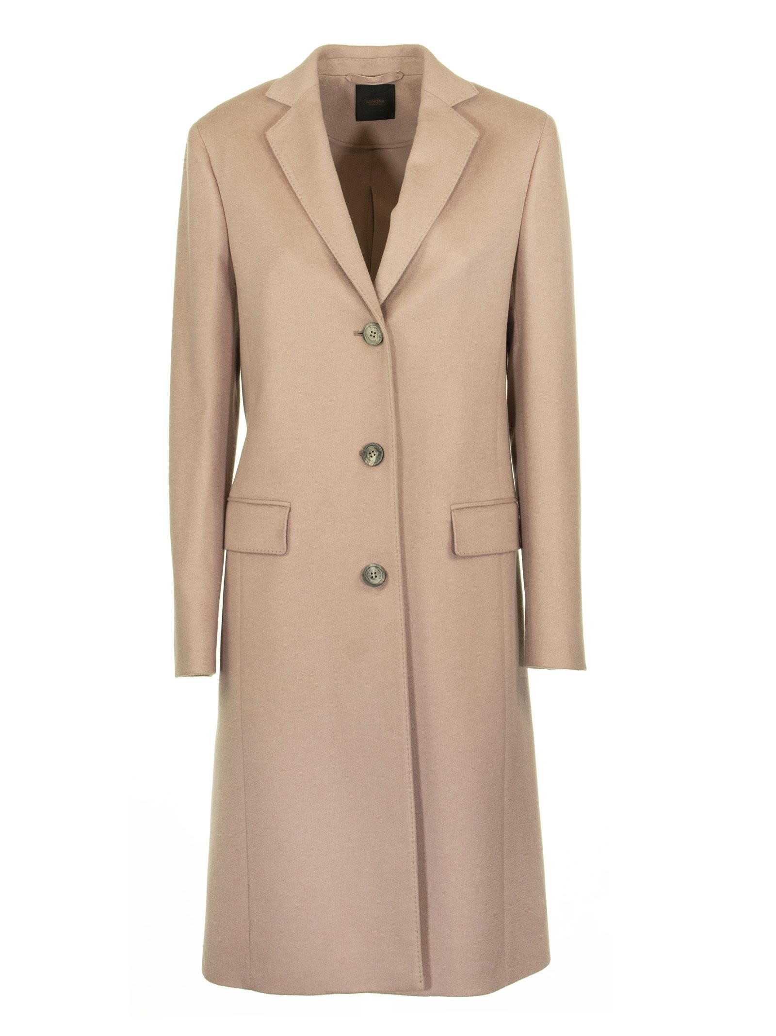 Agnona Cashmere Slim Coat, Rose Nude