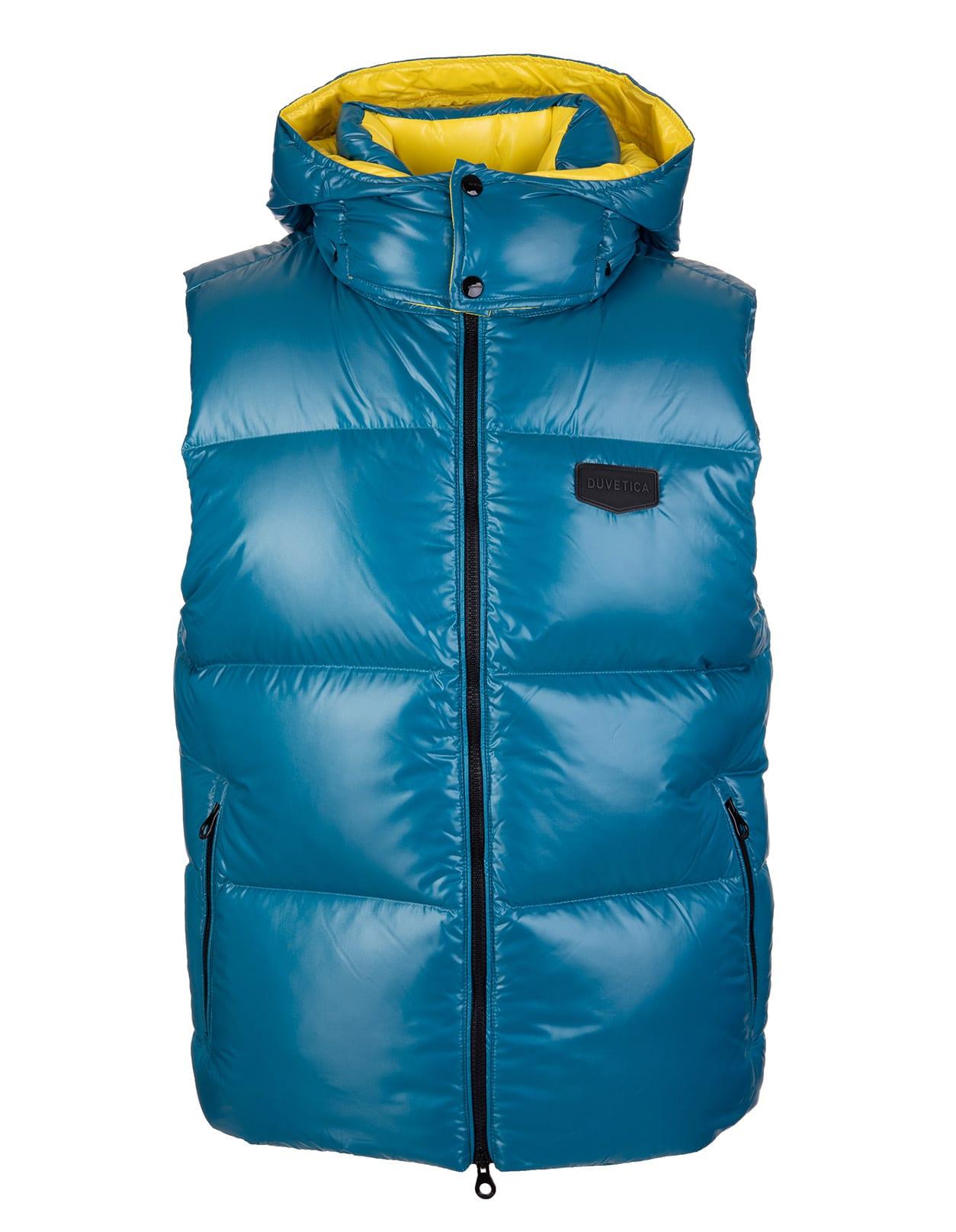 Man Lagoon Blue Salino Sleeveless Jacket