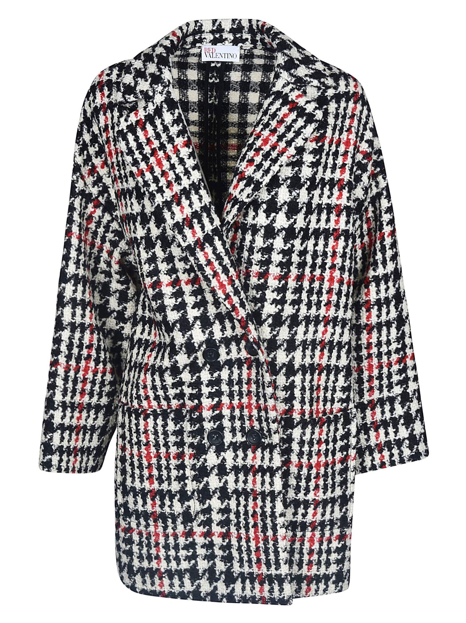 Valentino Houndstooth Coat