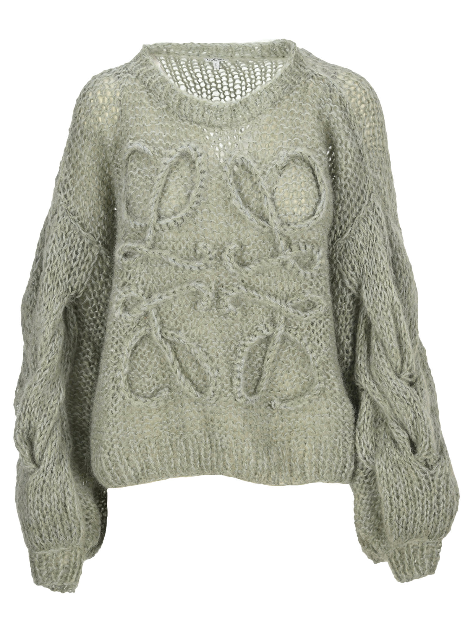 Loewe Denims ANAGRAM KNITTED SWEATER IN MOHAIR