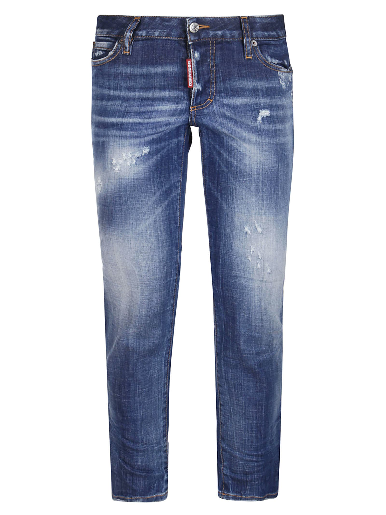 Dsquared2 Blue Stretch Cotton Jeans