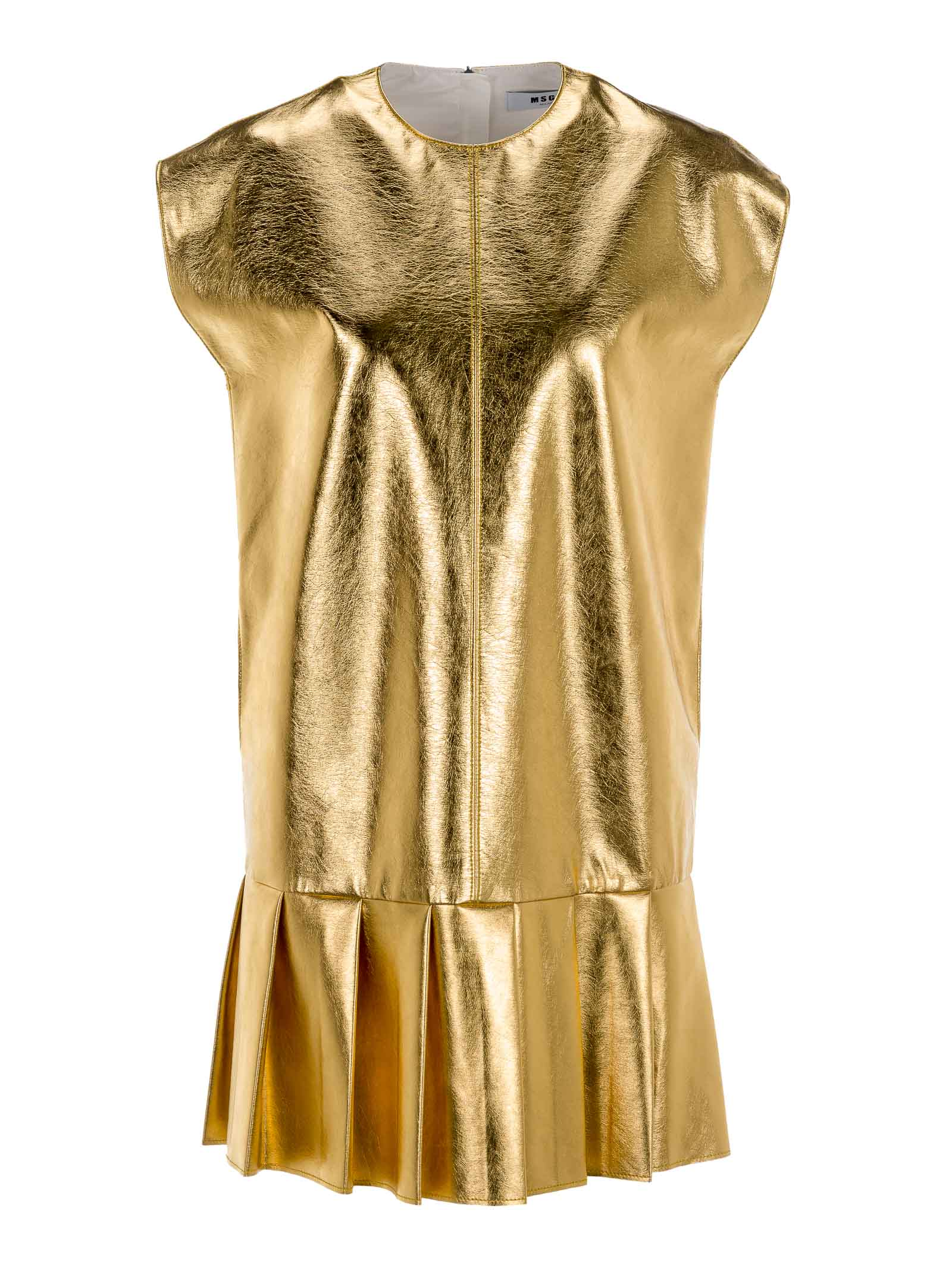 Buy Msgm Metallic Dress online, shop MSGM with free shipping