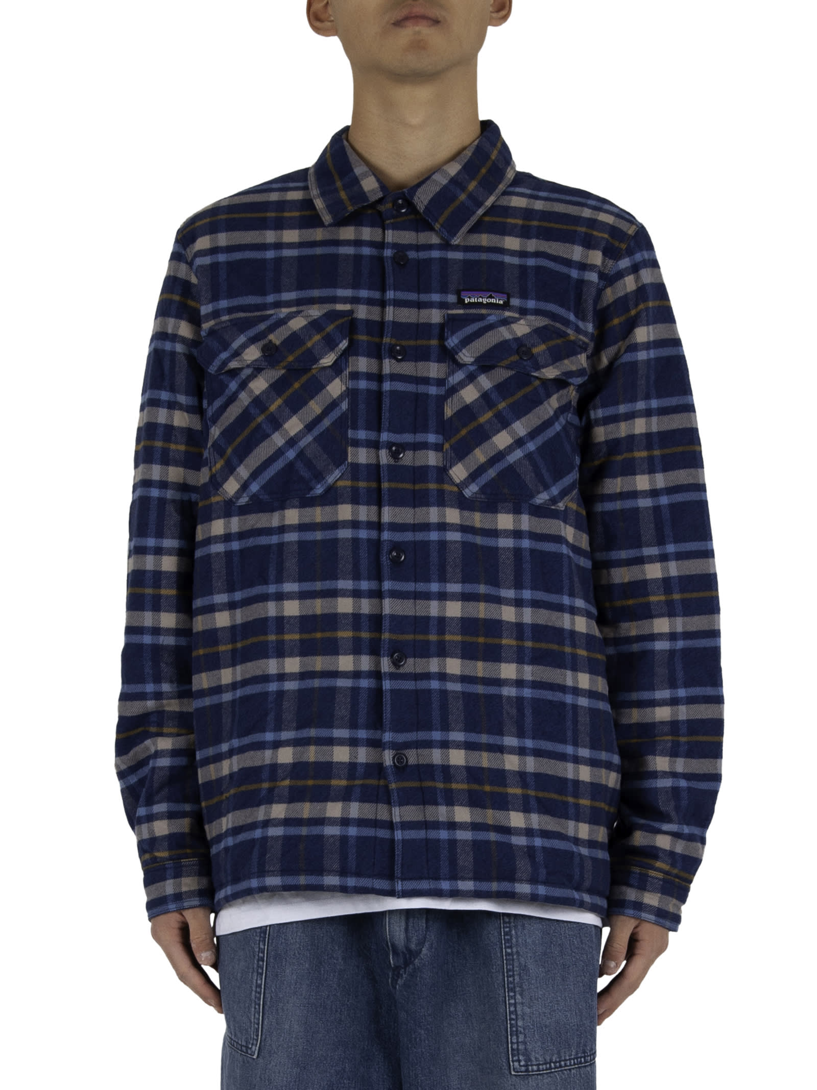 Shirt jacket; - Button closure; - Two chest pockets with button closure; - Lined interior; - Logoed insert applied on the chest. - Composition: 100% Organic Flannel - Color: Blue/Light Blue
