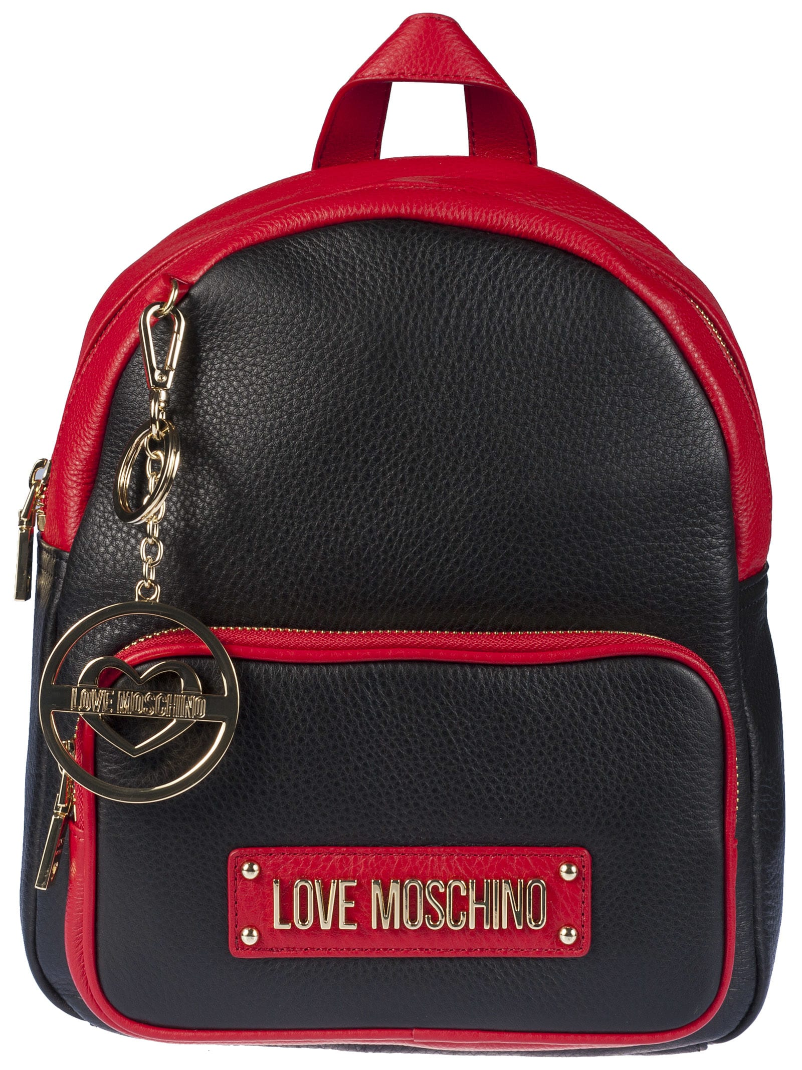 buy popular da62a 15957 Best price on the market at italist   Love Moschino Love Moschino Logo  Plaque Backpack