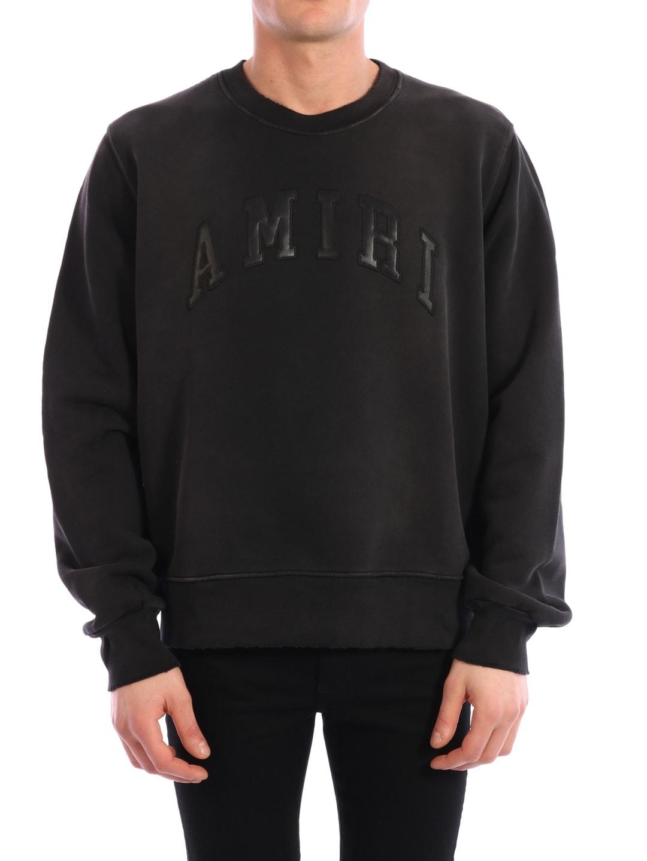 AMIRI Black College Logo Sweatshirt