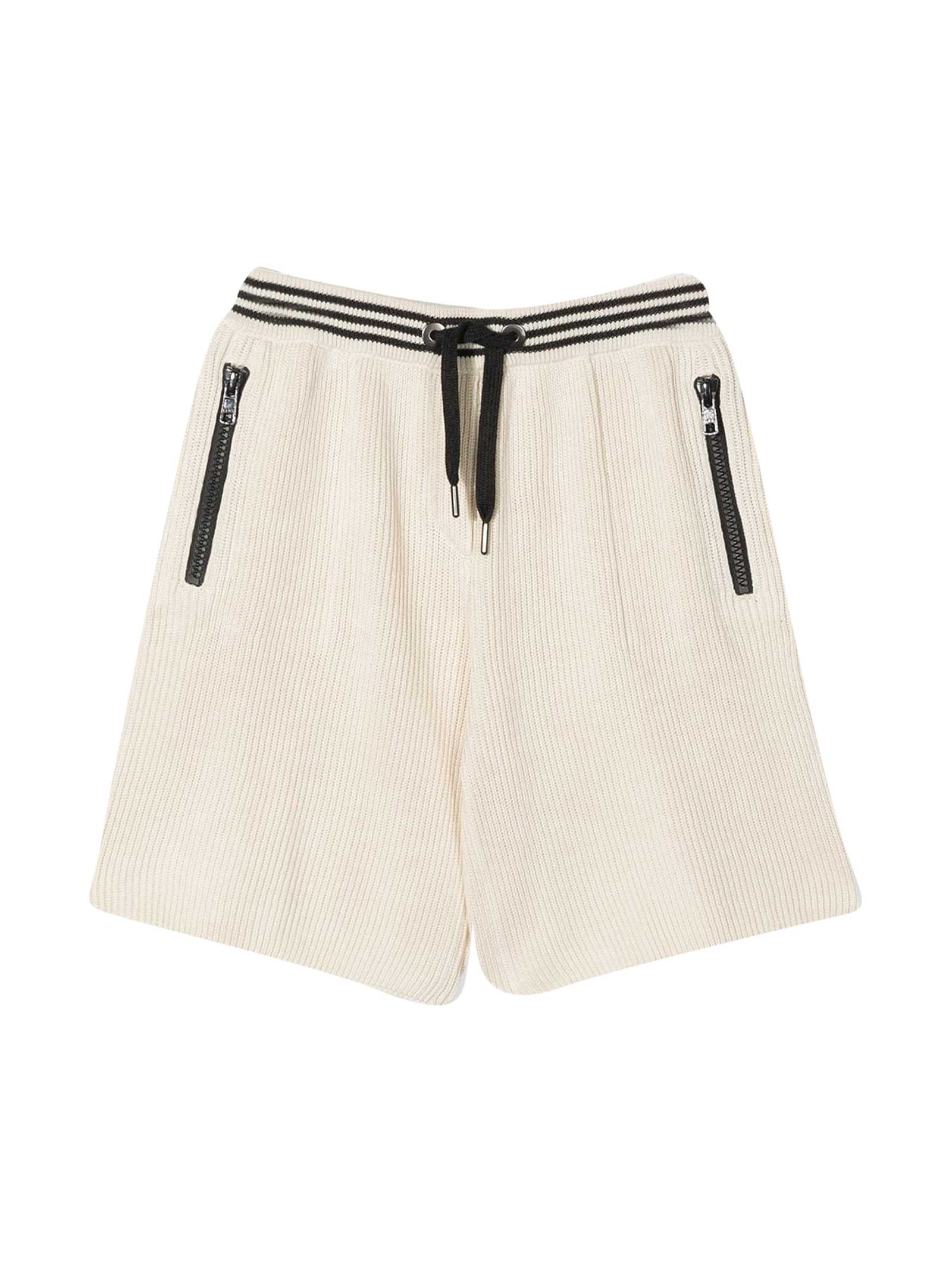 Brunello Cucinelli Cottons SHORTS WITH STRIPED BORDER
