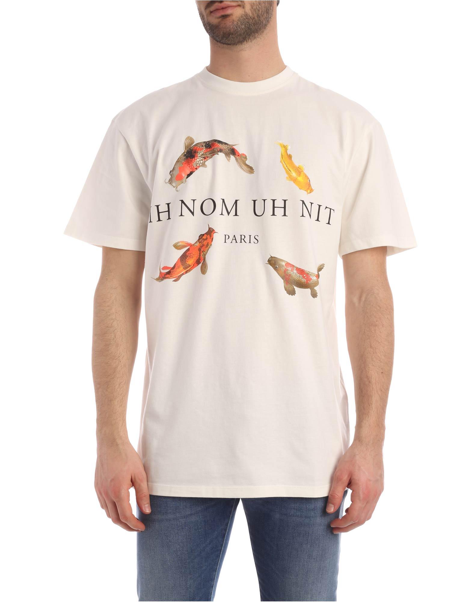 ih nom uh nit T-shirt Koi Fish Print