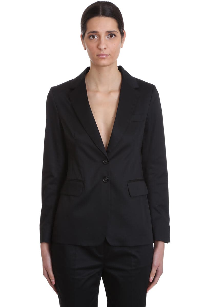 Buy Mauro Grifoni Tailleur Dress In Black Cotton online, shop Mauro Grifoni with free shipping