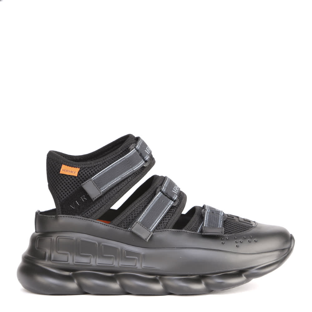 Versace Chain Reaction Mesh Sandals