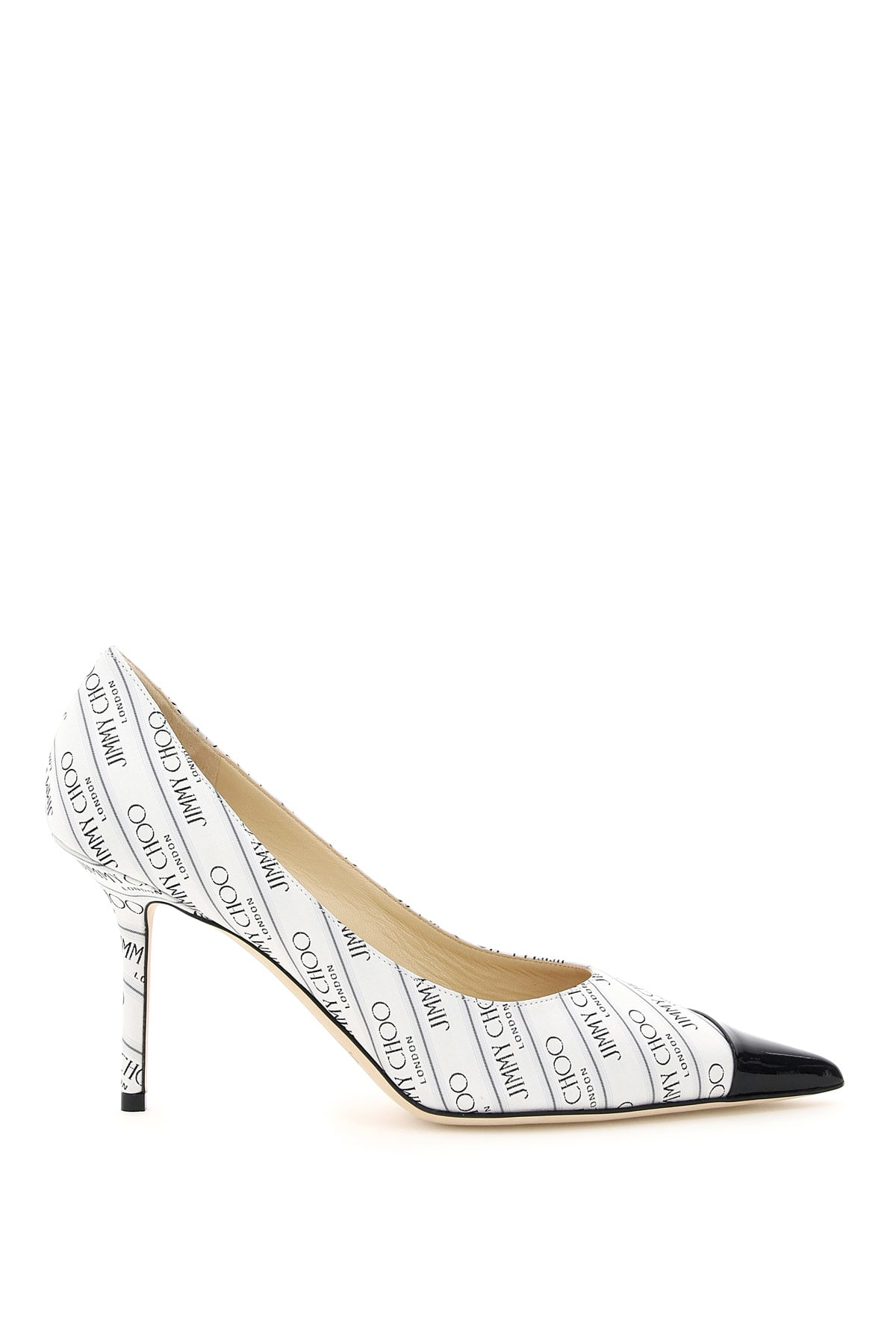 JIMMY CHOO LOVE 85 PUMPS WITH JACQUARD LOGO