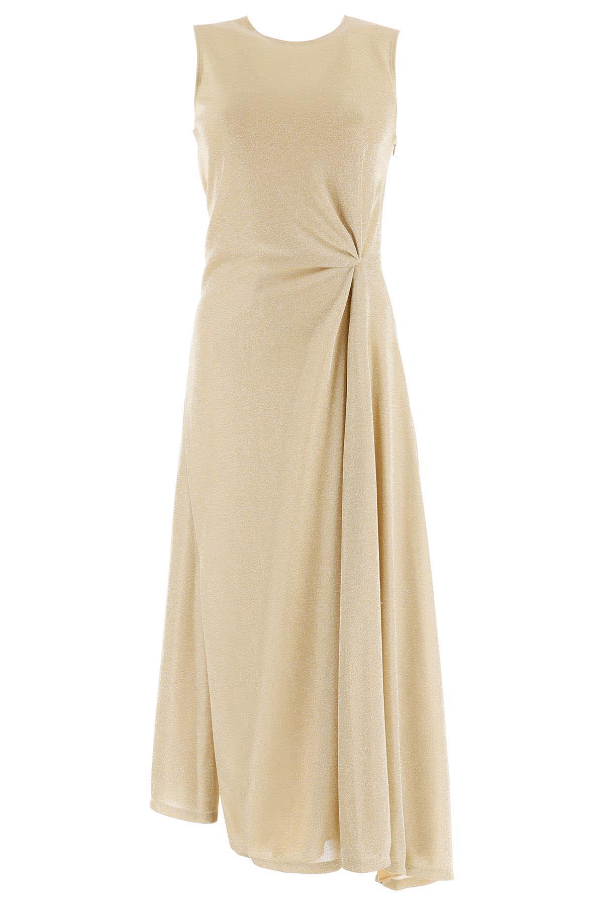 Lanvin Lurex Draped Dress