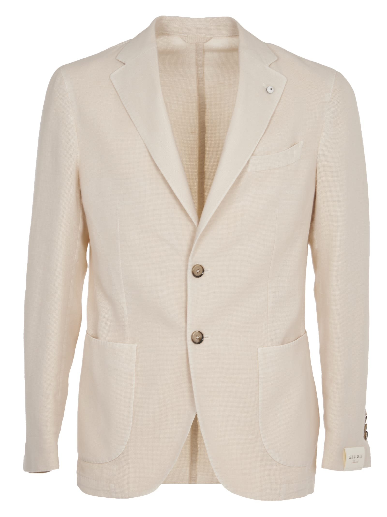 L.B.M. 1911 Cream Cotton And Linen Jacket