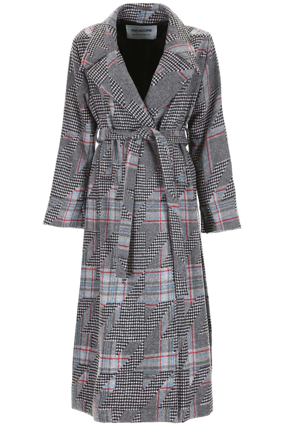 Ava Adore Coat With Mink Fur Half-belt