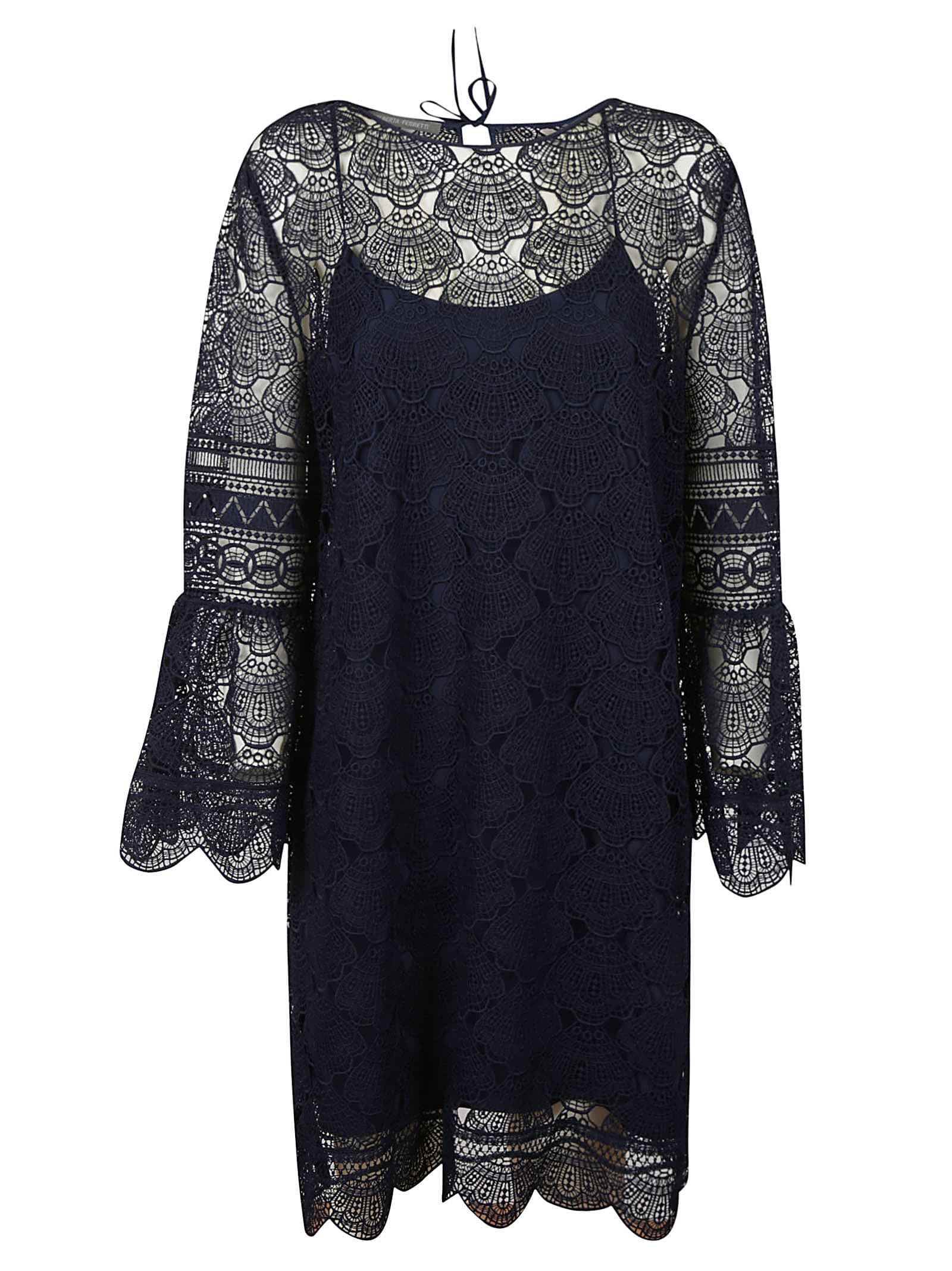 Buy Alberta Ferretti Lace Patterned Dress online, shop Alberta Ferretti with free shipping