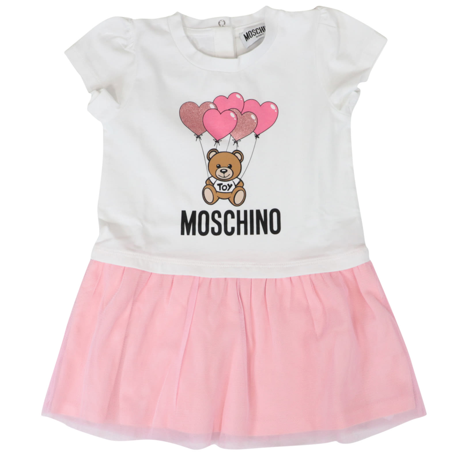 Buy Moschino Cotton Stretch Dress online, shop Moschino with free shipping
