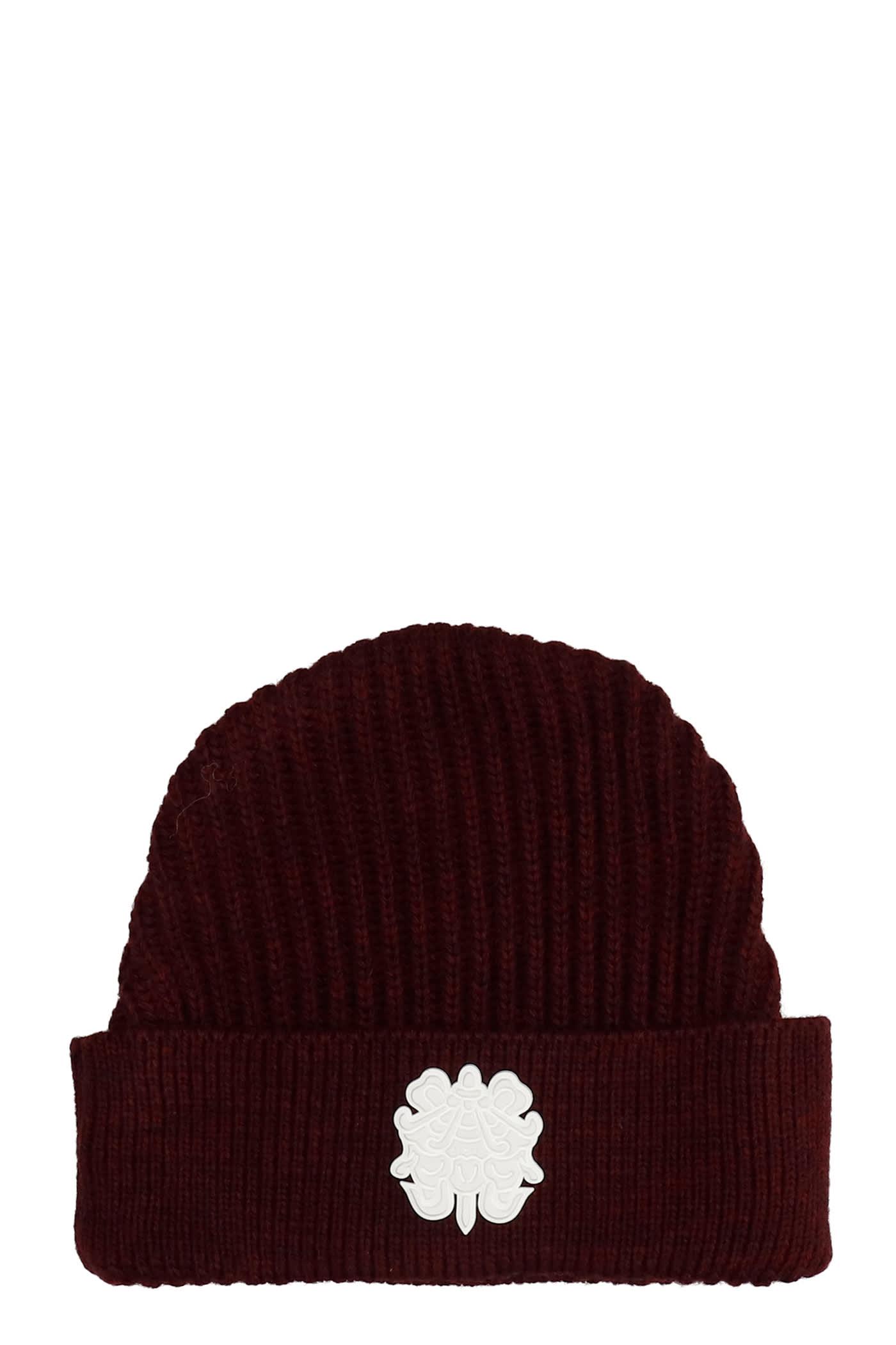 Hats In Bordeaux Wool